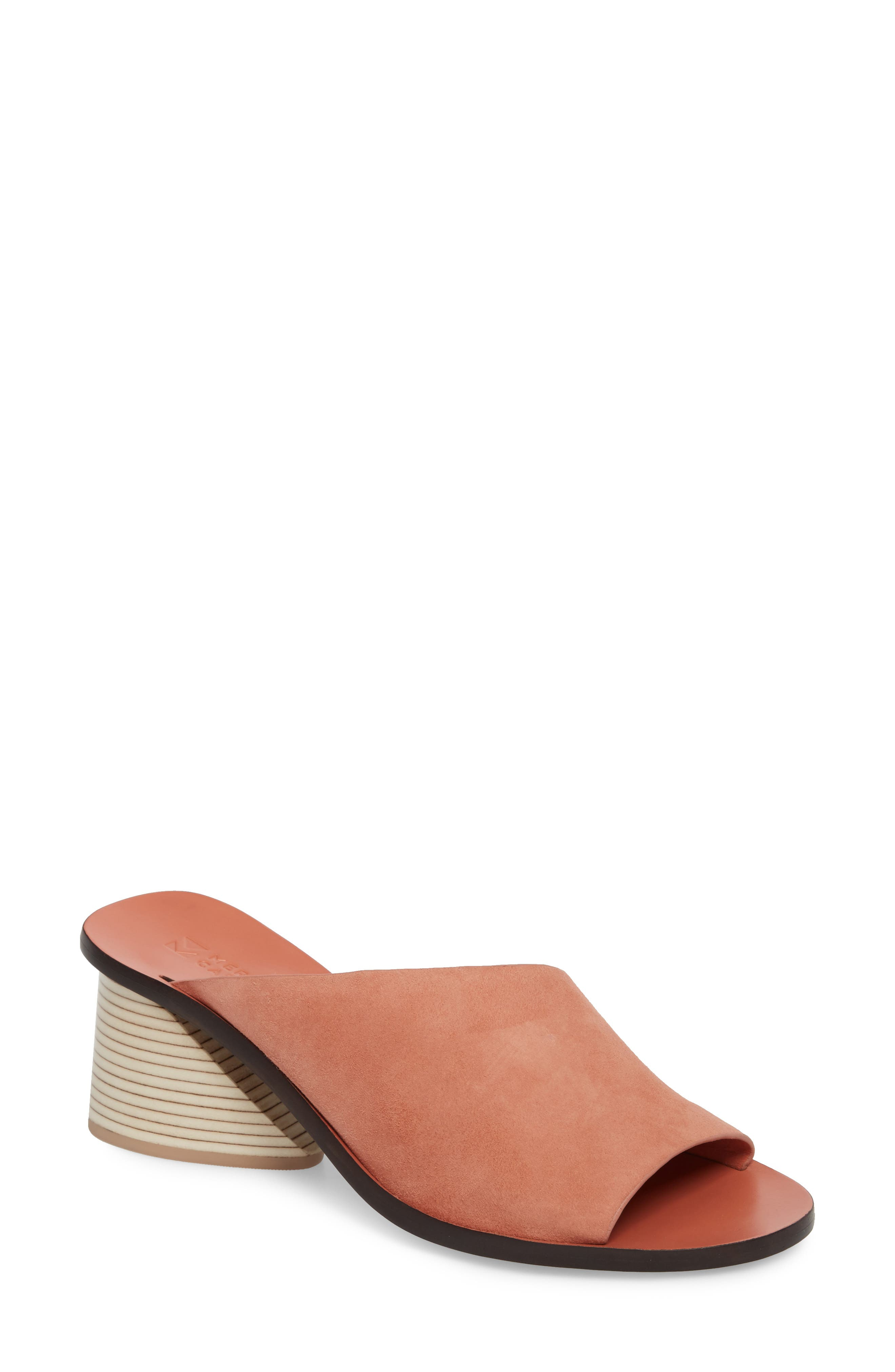 Izar Slide Sandal,                         Main,                         color, Rose Suede