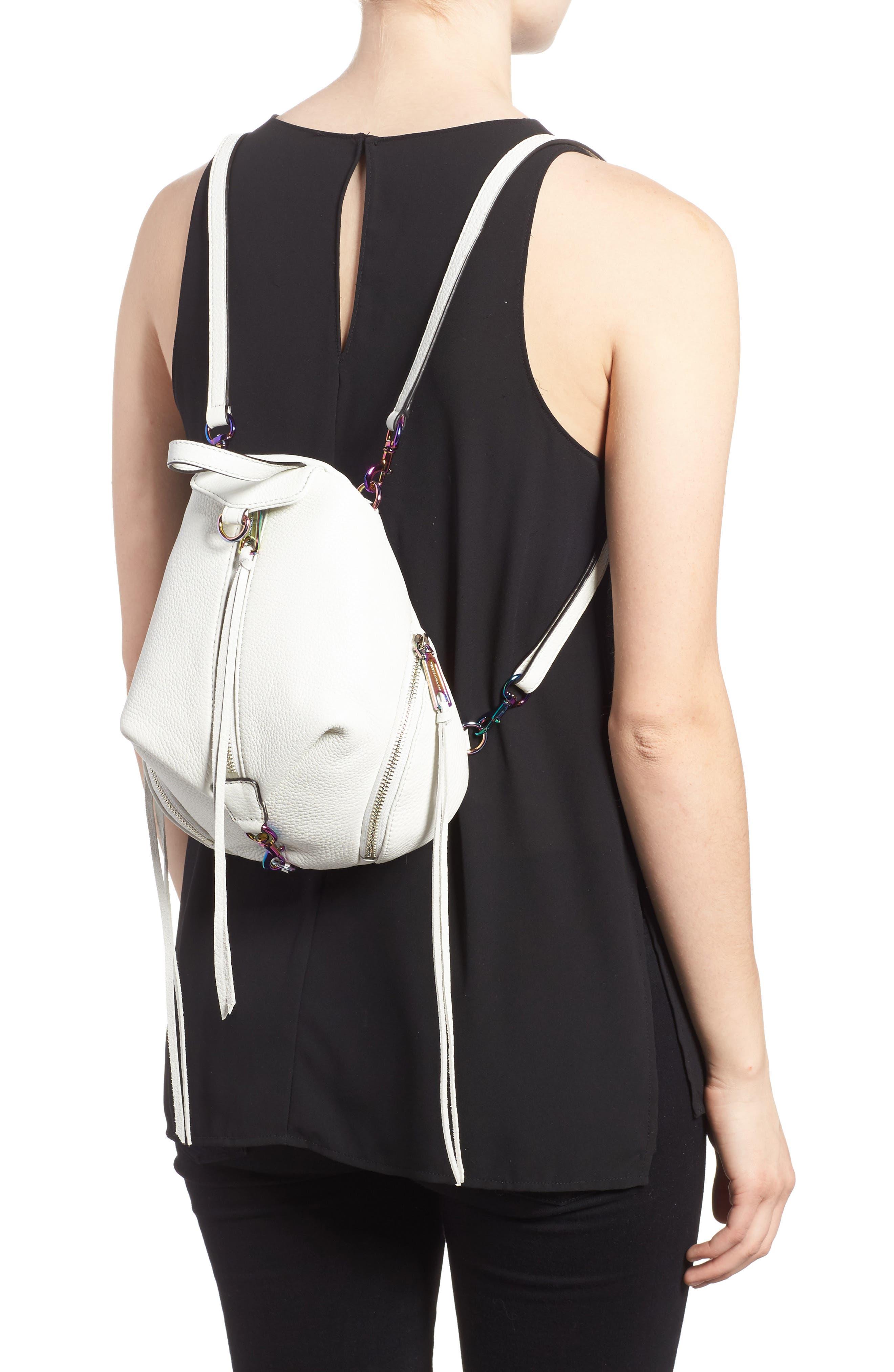 Alternate Image 2  - Rebecca Minkoff Mini Julian Nubuck Leather Convertible Backpack