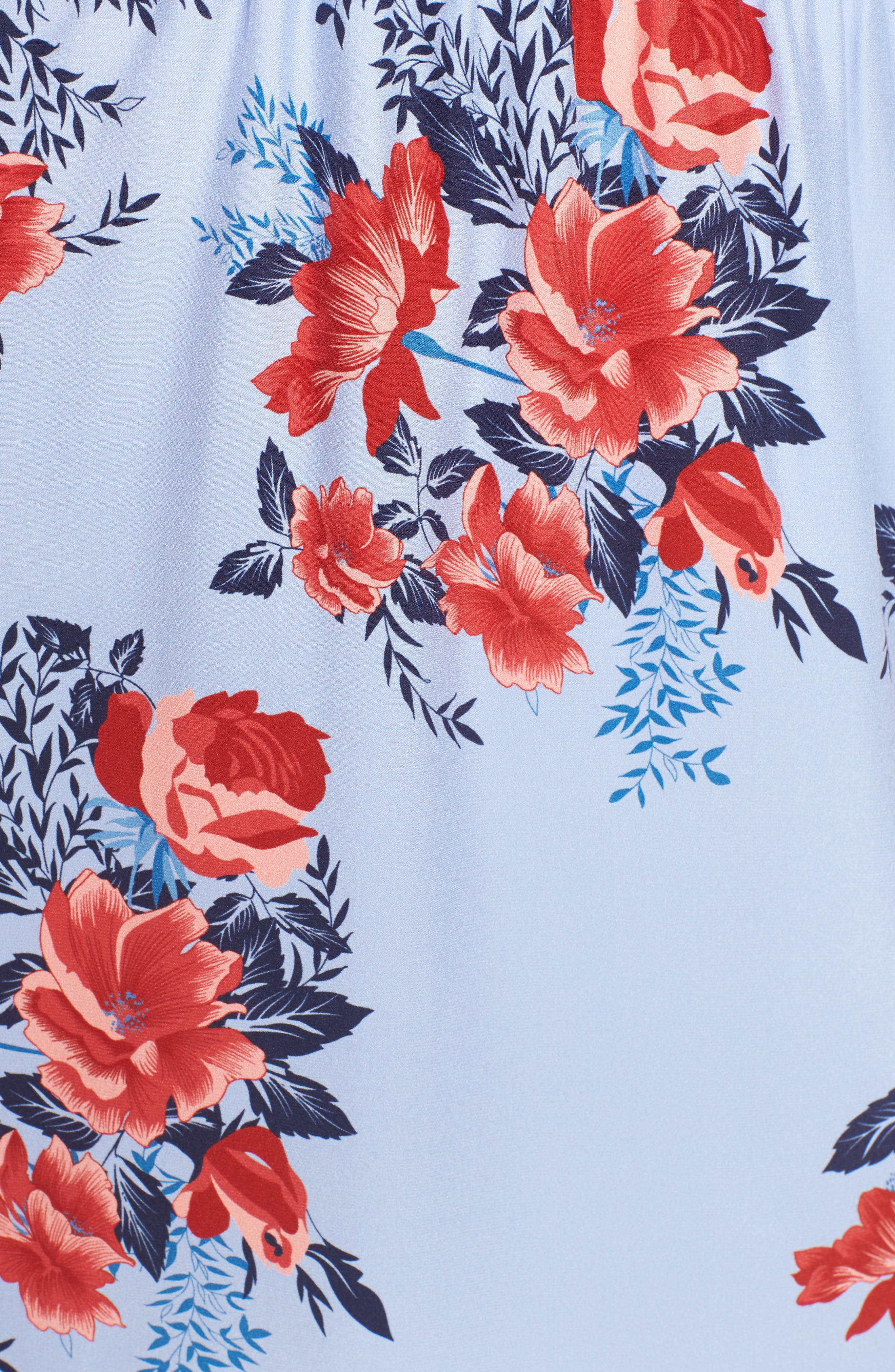 Xiomara Silk Dress,                             Alternate thumbnail 5, color,                             Lilac Blossom