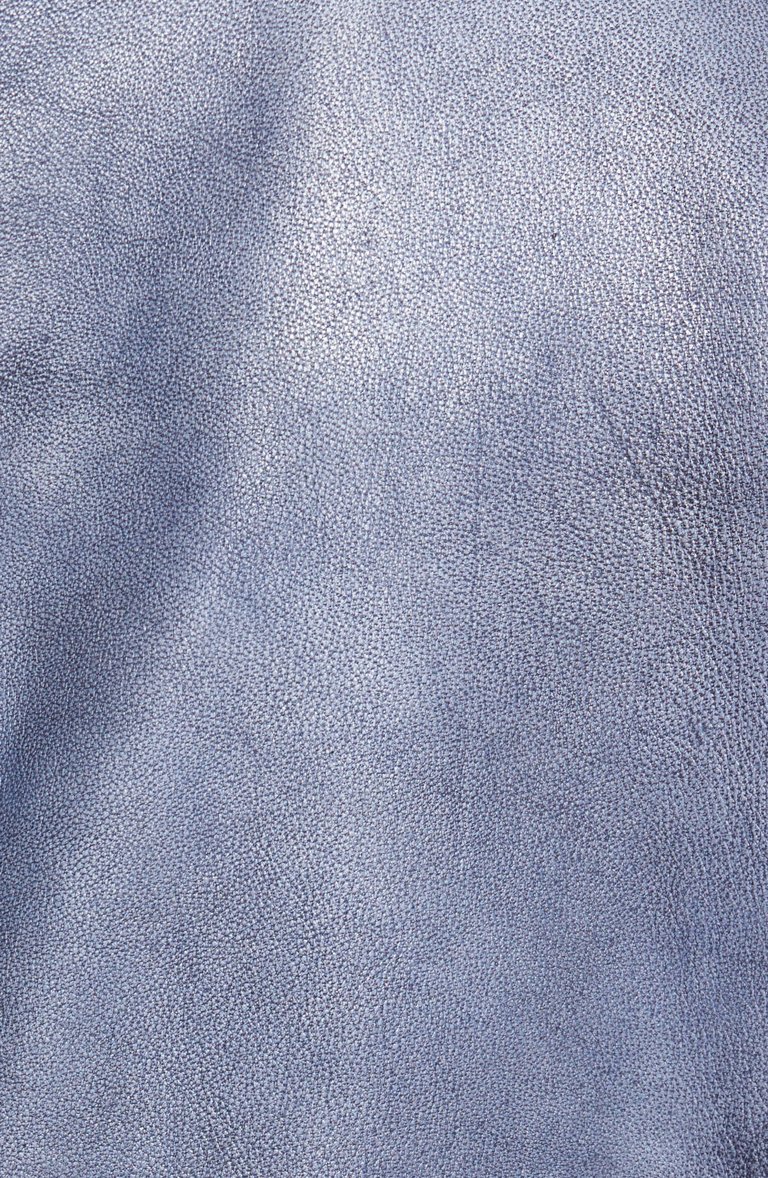Alternate Image 5  - Missani Le Collezioni Abraded Washed Leather Jacket