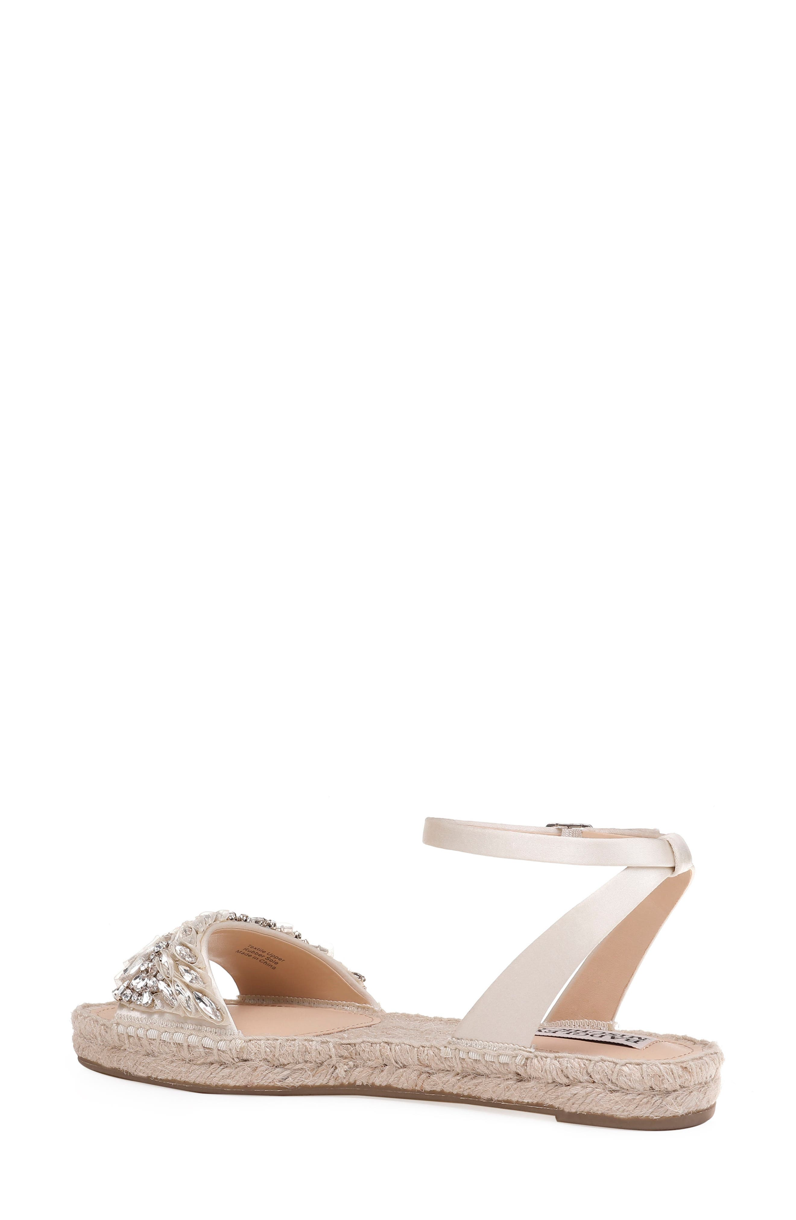 Satine Espadrille Sandal,                             Alternate thumbnail 2, color,                             Ivory Satin