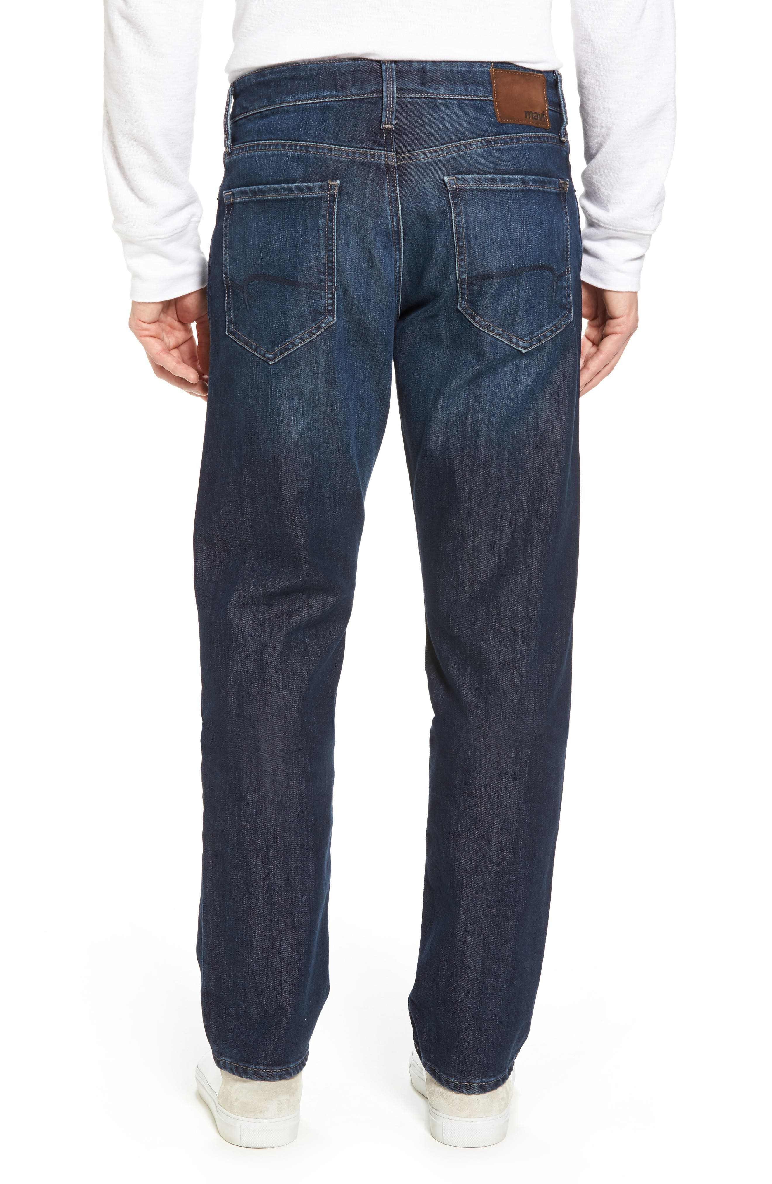 Myles Straight Leg Jeans,                             Alternate thumbnail 2, color,                             Deep Brushed Stanford