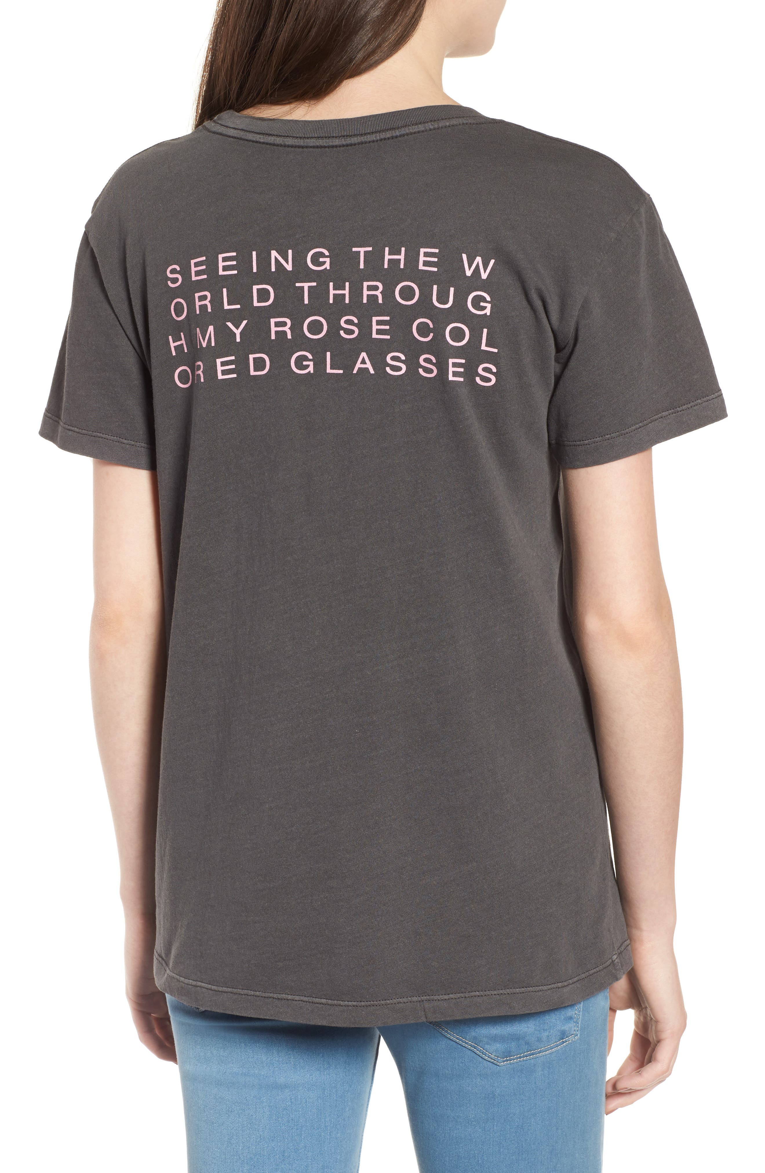 Boyfriend Graphic Tee,                             Alternate thumbnail 2, color,                             Rose Washed Black