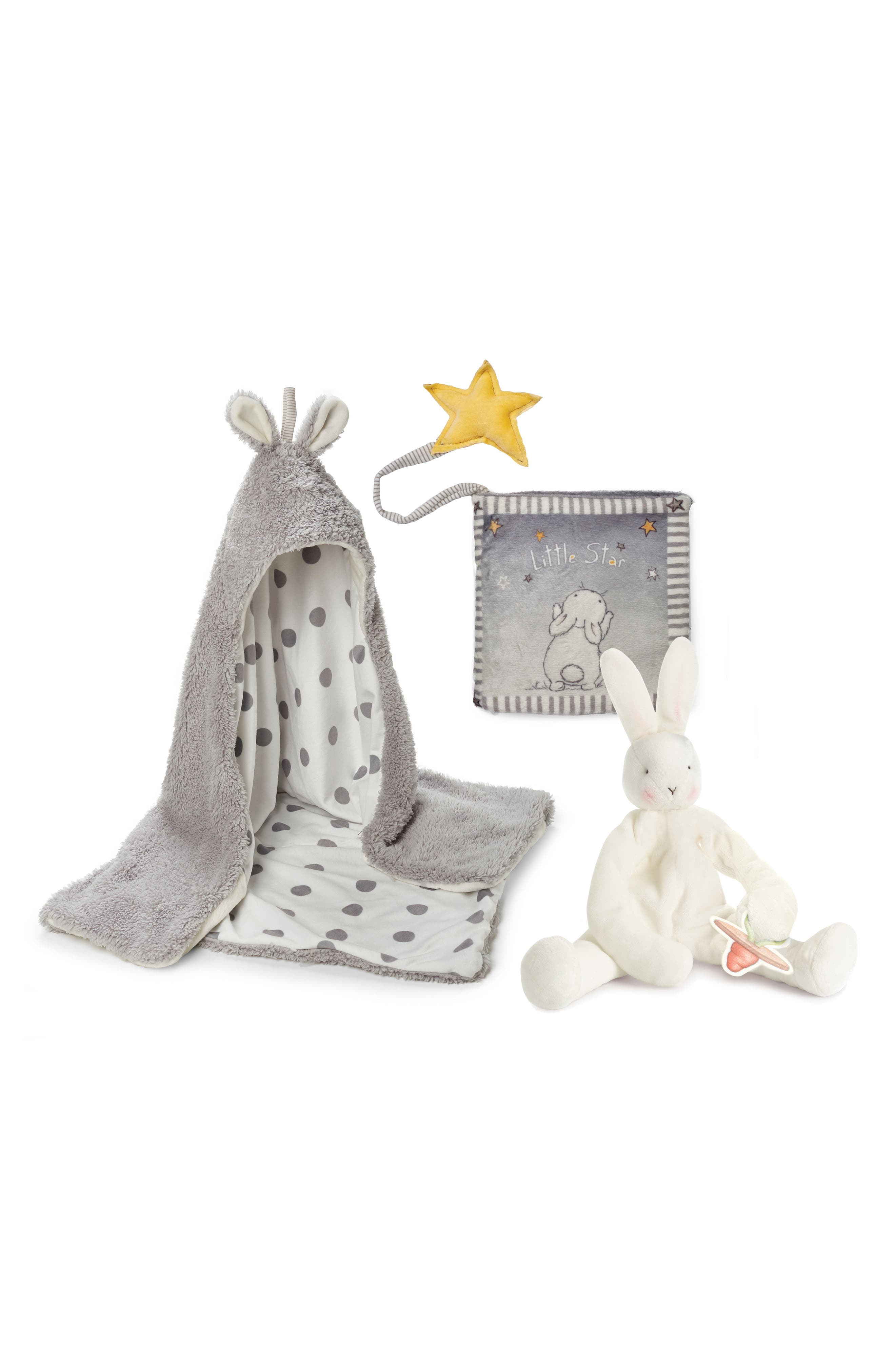 Storytime Hooded Blanket, Stuffed Animal & Book Set,                             Main thumbnail 1, color,                             Glad Dreams Grey