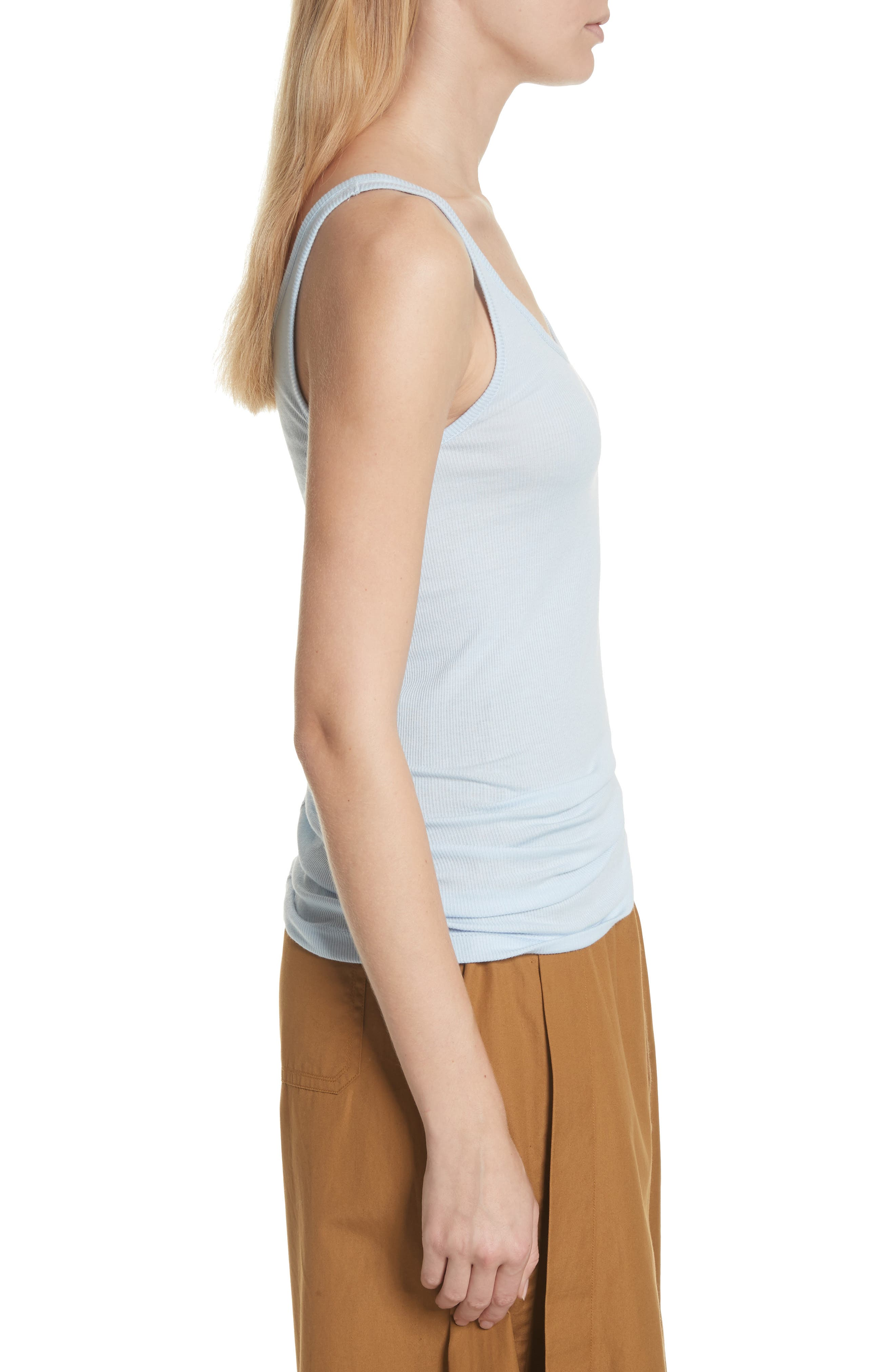 Scoop Neck Tank,                             Alternate thumbnail 3, color,                             Powder Blue