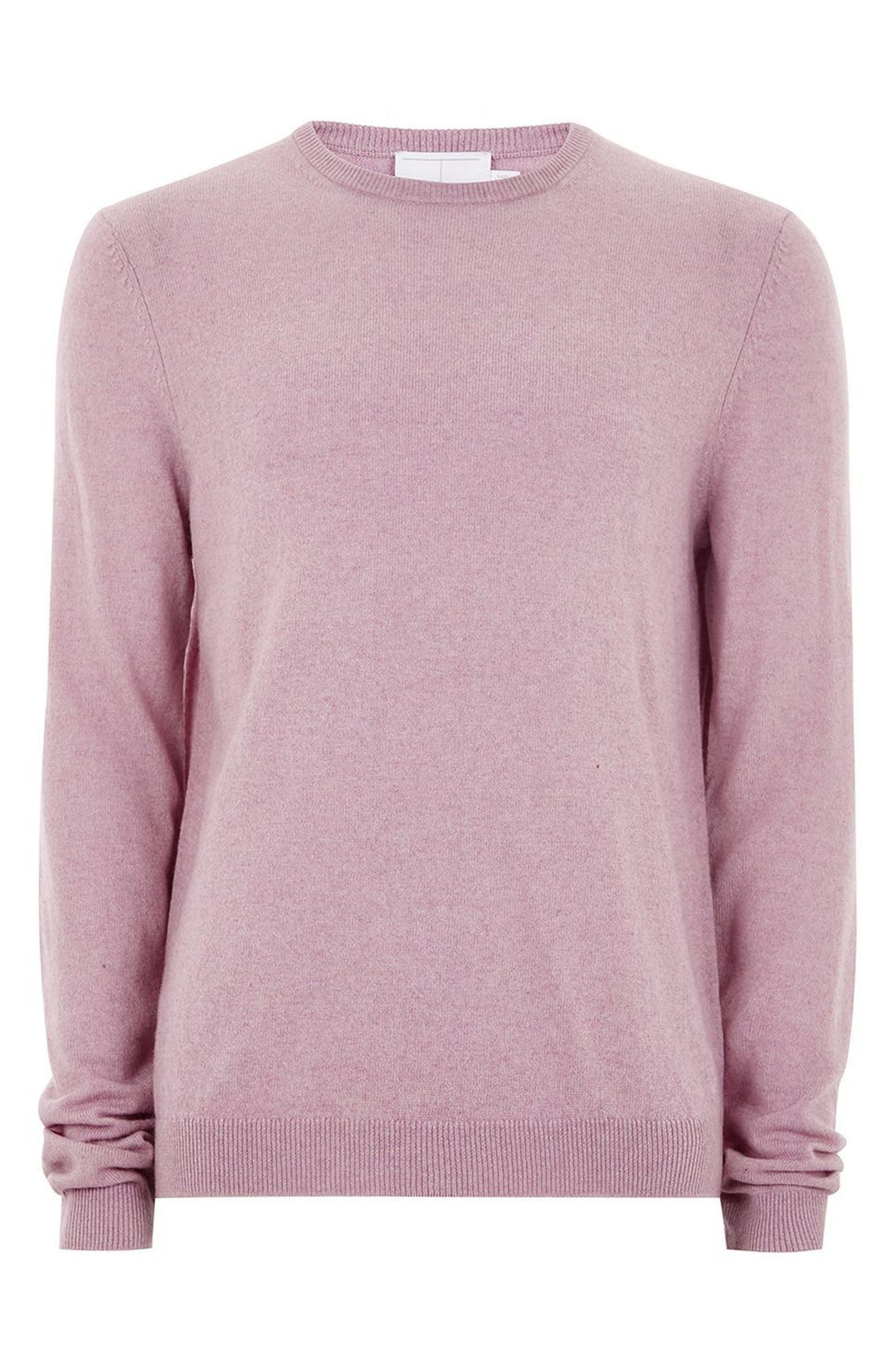Crewneck Sweater,                             Alternate thumbnail 4, color,                             Pink