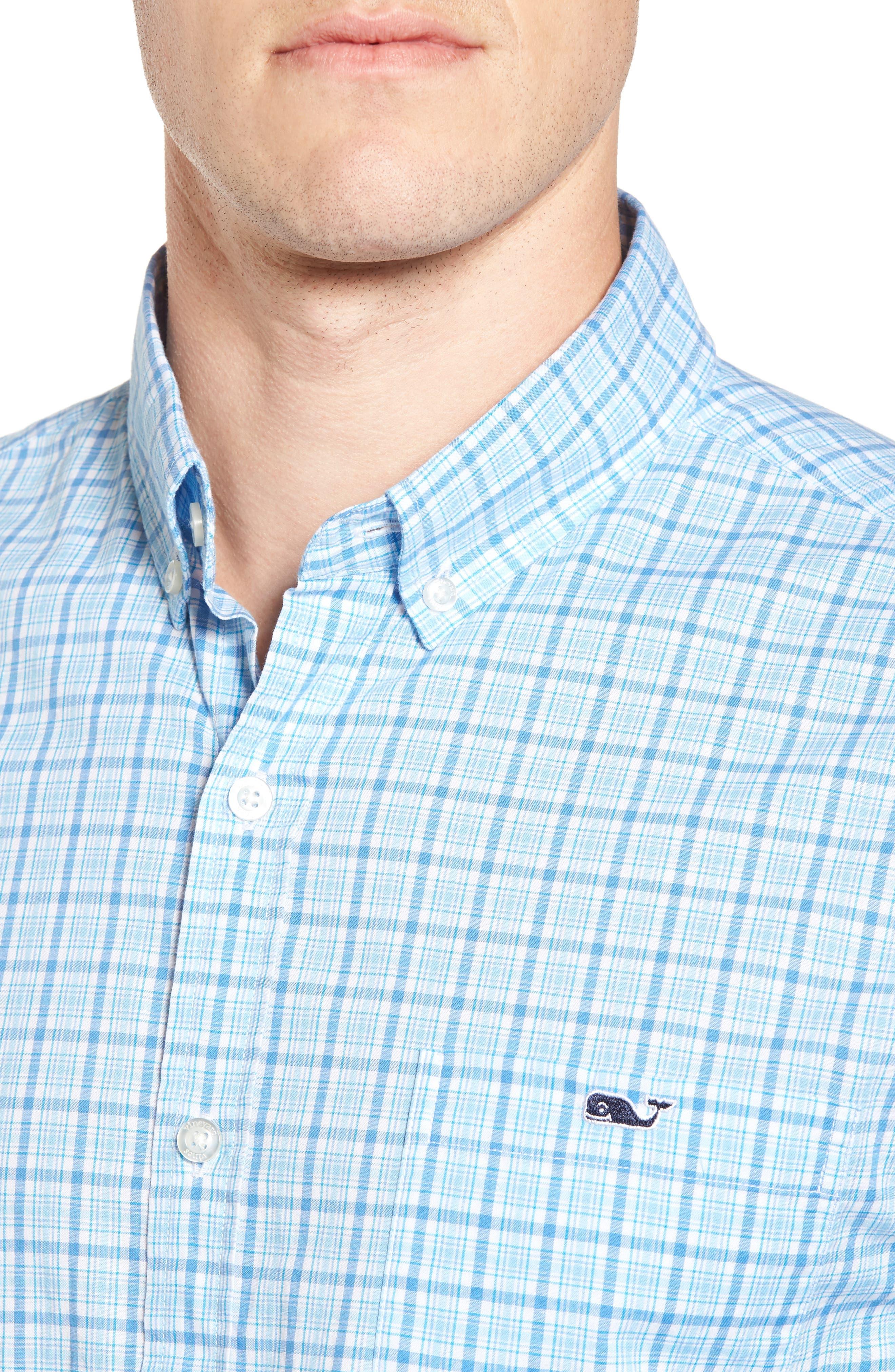 Alternate Image 4  - vineyard vines Seawatch Slim Fit Plaid Sport Shirt