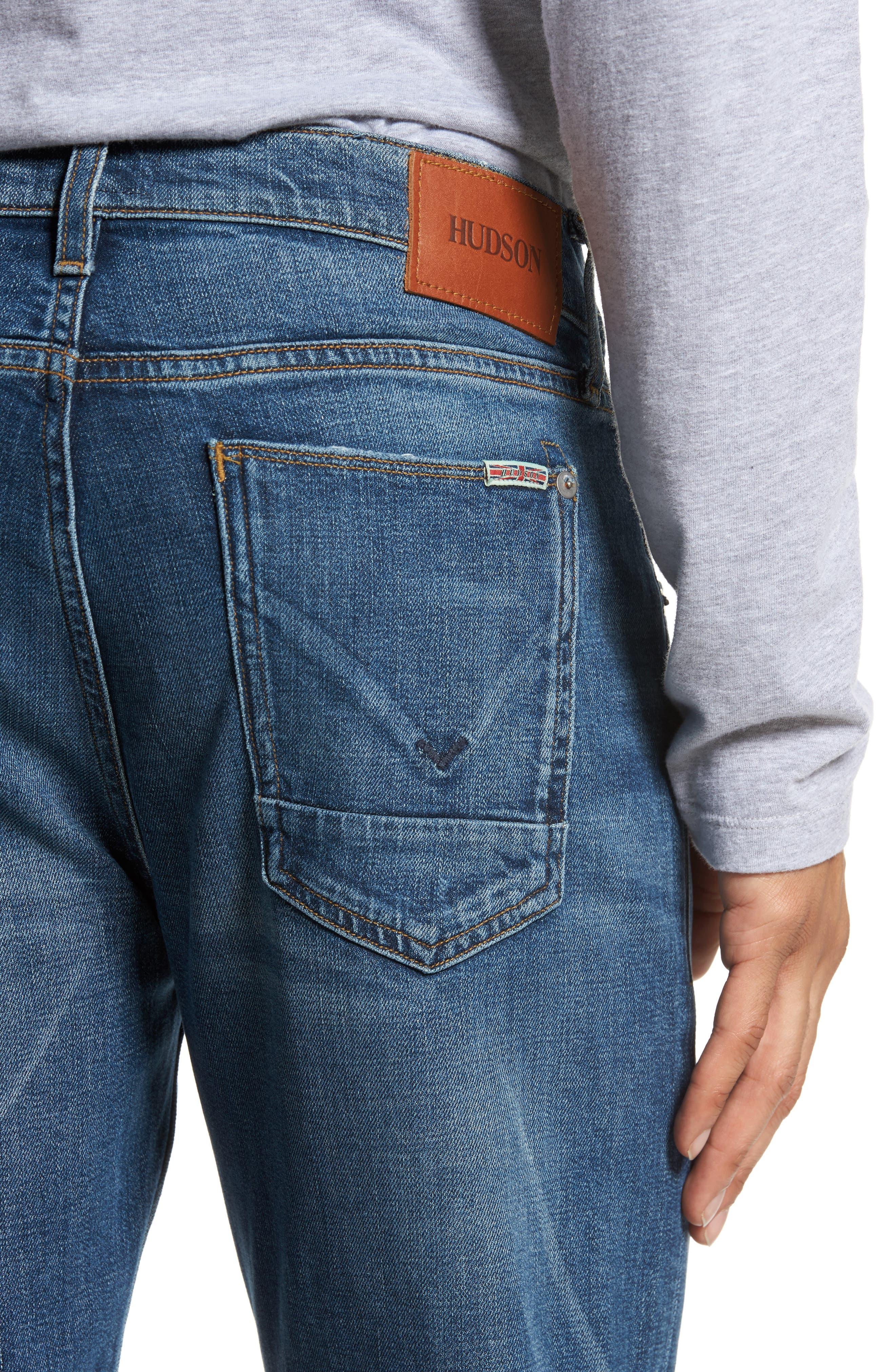 Alternate Image 4  - Hudson Jeans Byron Slim Straight Leg Jeans (Graph)