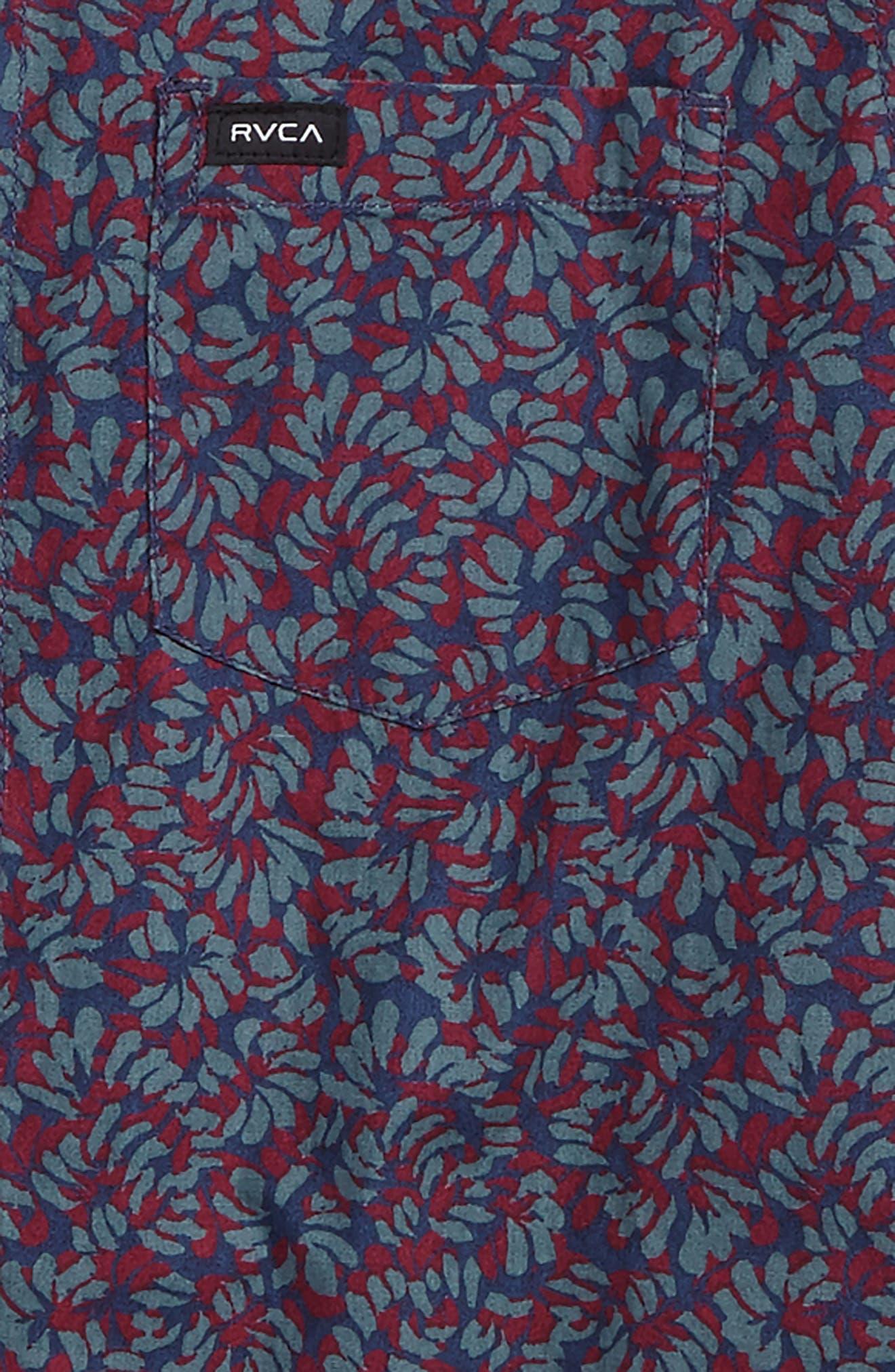 Brong Floral Woven Shirt,                             Alternate thumbnail 2, color,                             Dark Denim
