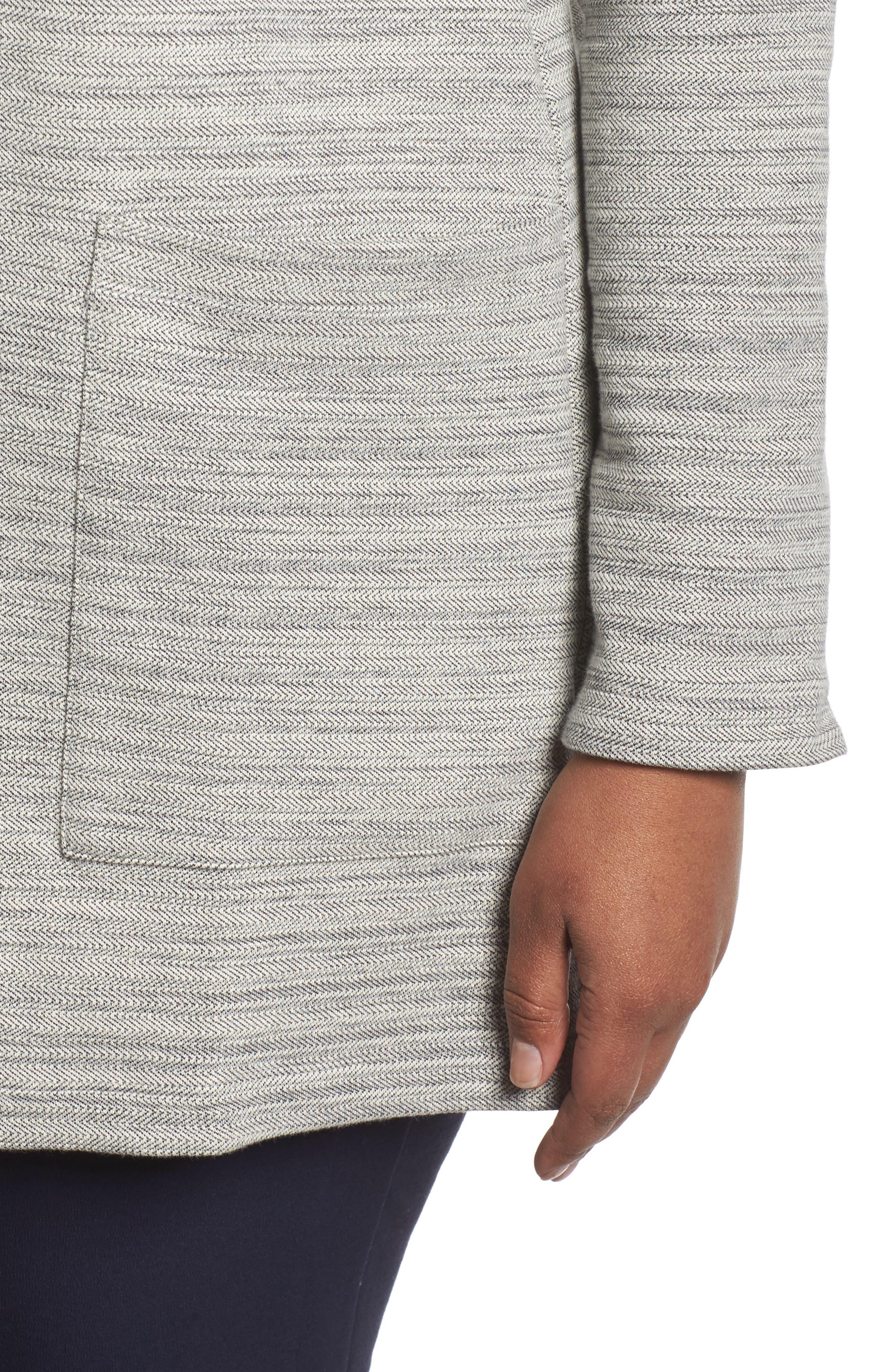 Cotton Blend Tweed Jacket,                             Alternate thumbnail 4, color,                             Dark Pearl