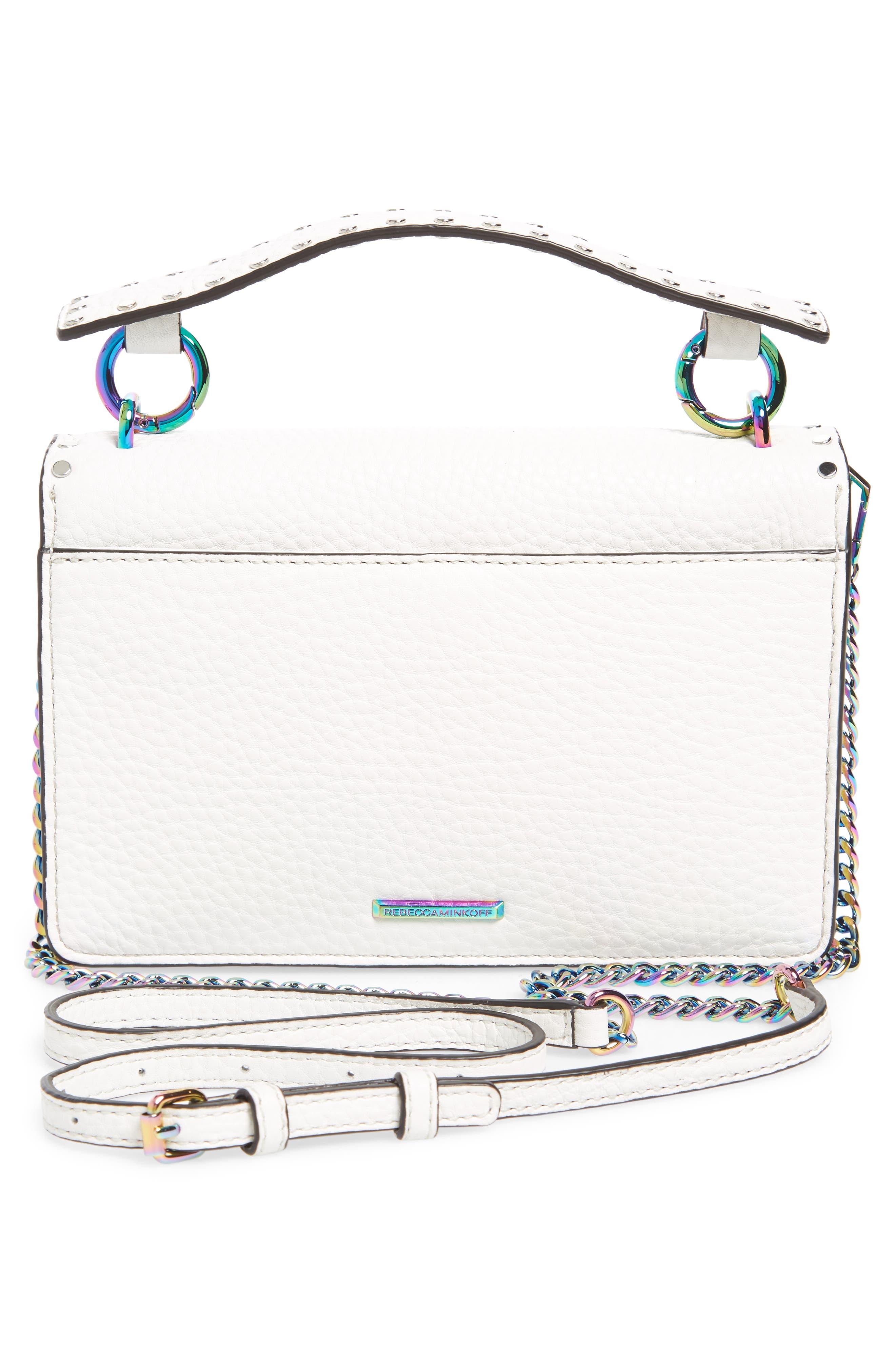 Darren Leather Top Handle Crossbody Bag,                             Alternate thumbnail 3, color,                             Bianco