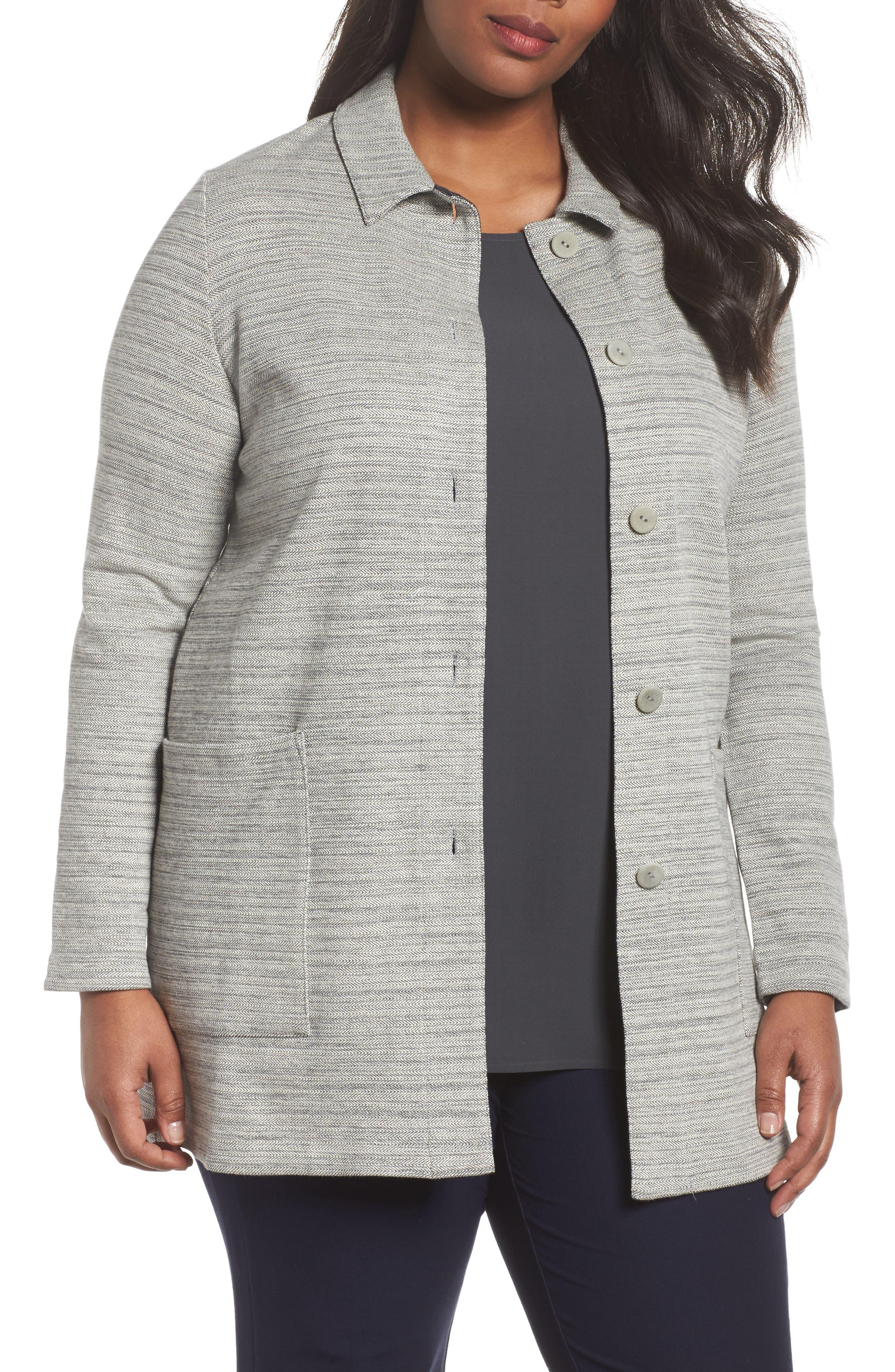 Cotton Blend Tweed Jacket,                             Main thumbnail 1, color,                             Dark Pearl
