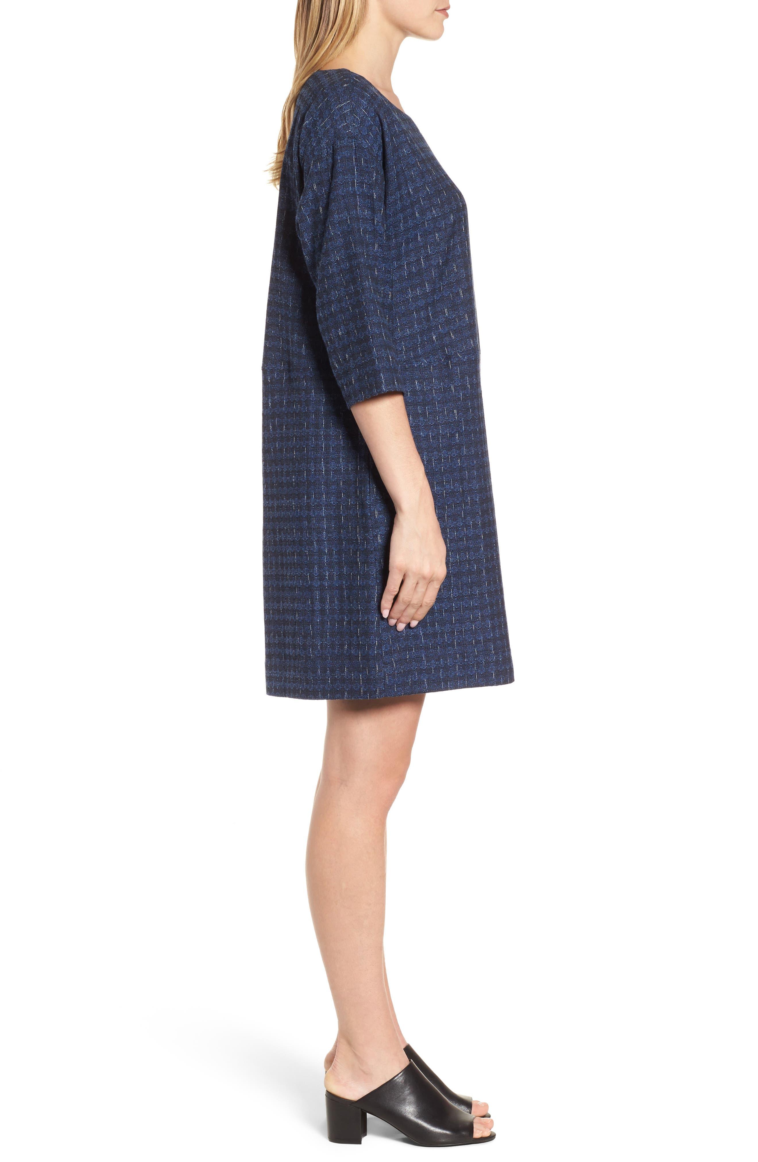 Alternate Image 3  - Eileen Fisher Organic Cotton Jacquard Shift Dress