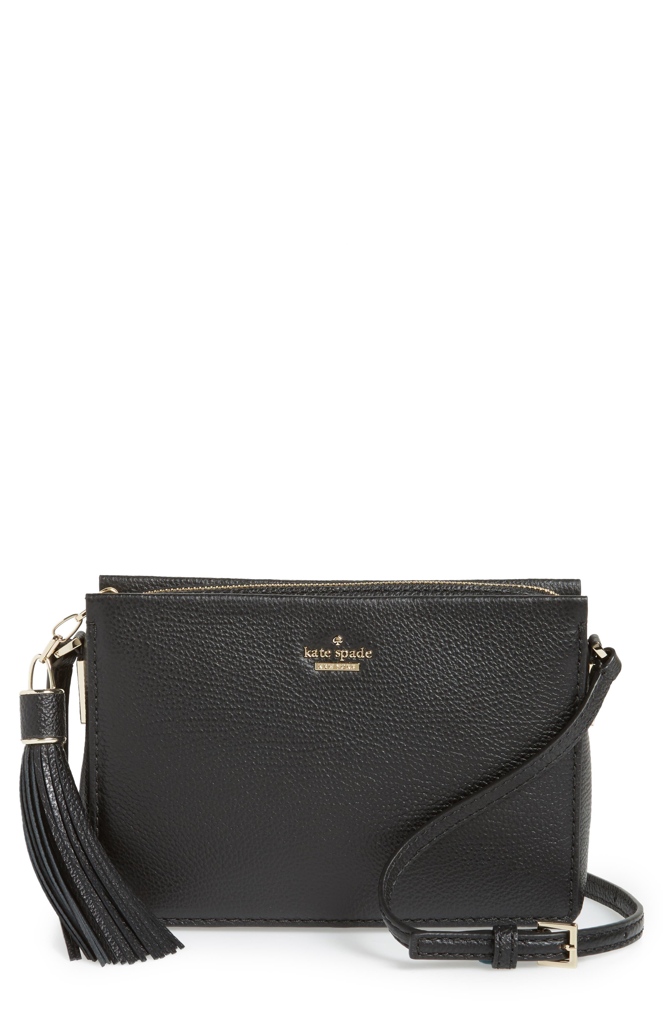 kingston drive - gillian leather crossbody bag,                         Main,                         color, Black