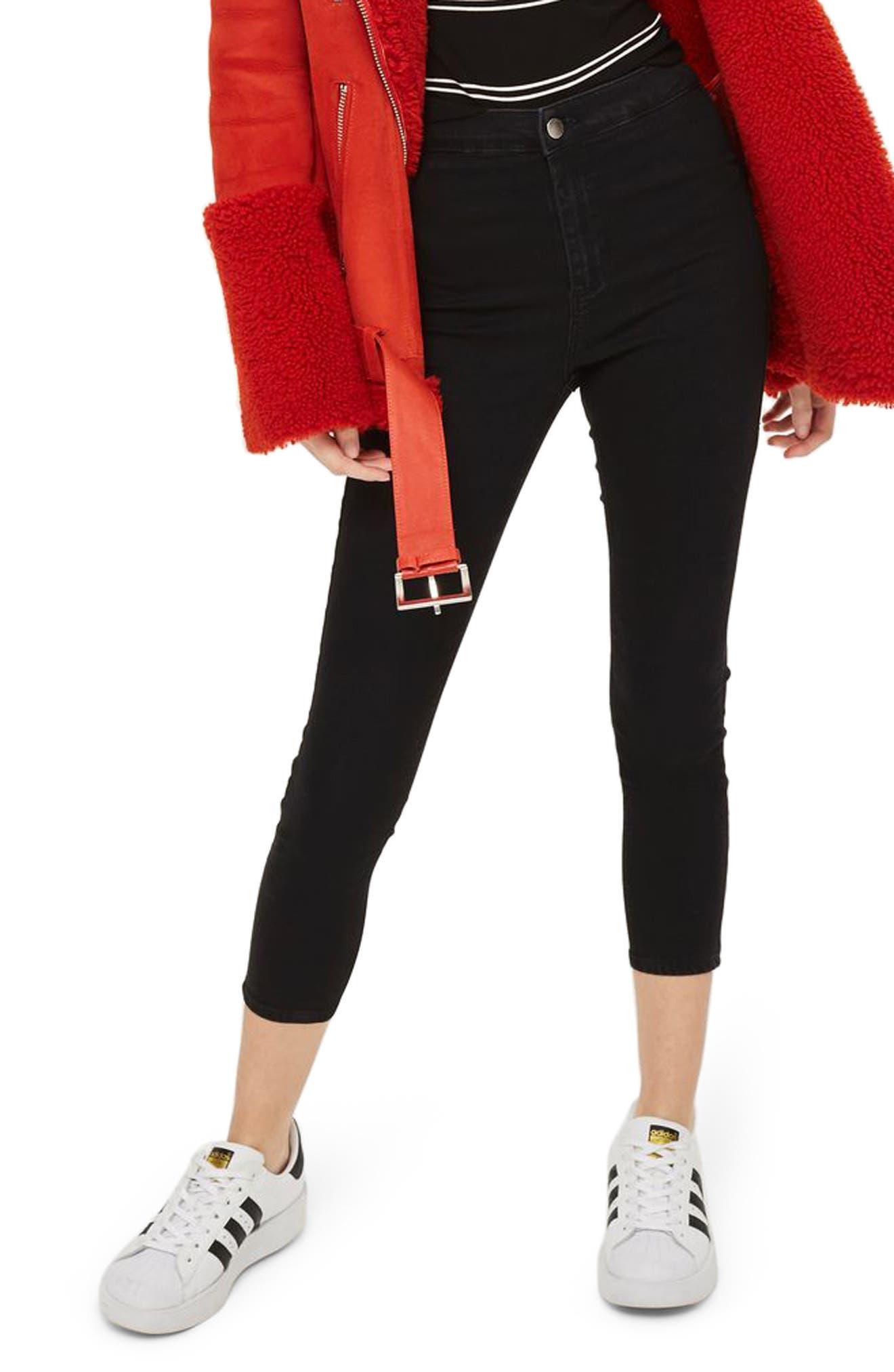 Topshop Joni High Waist Crop Skinny Jeans (Petite)