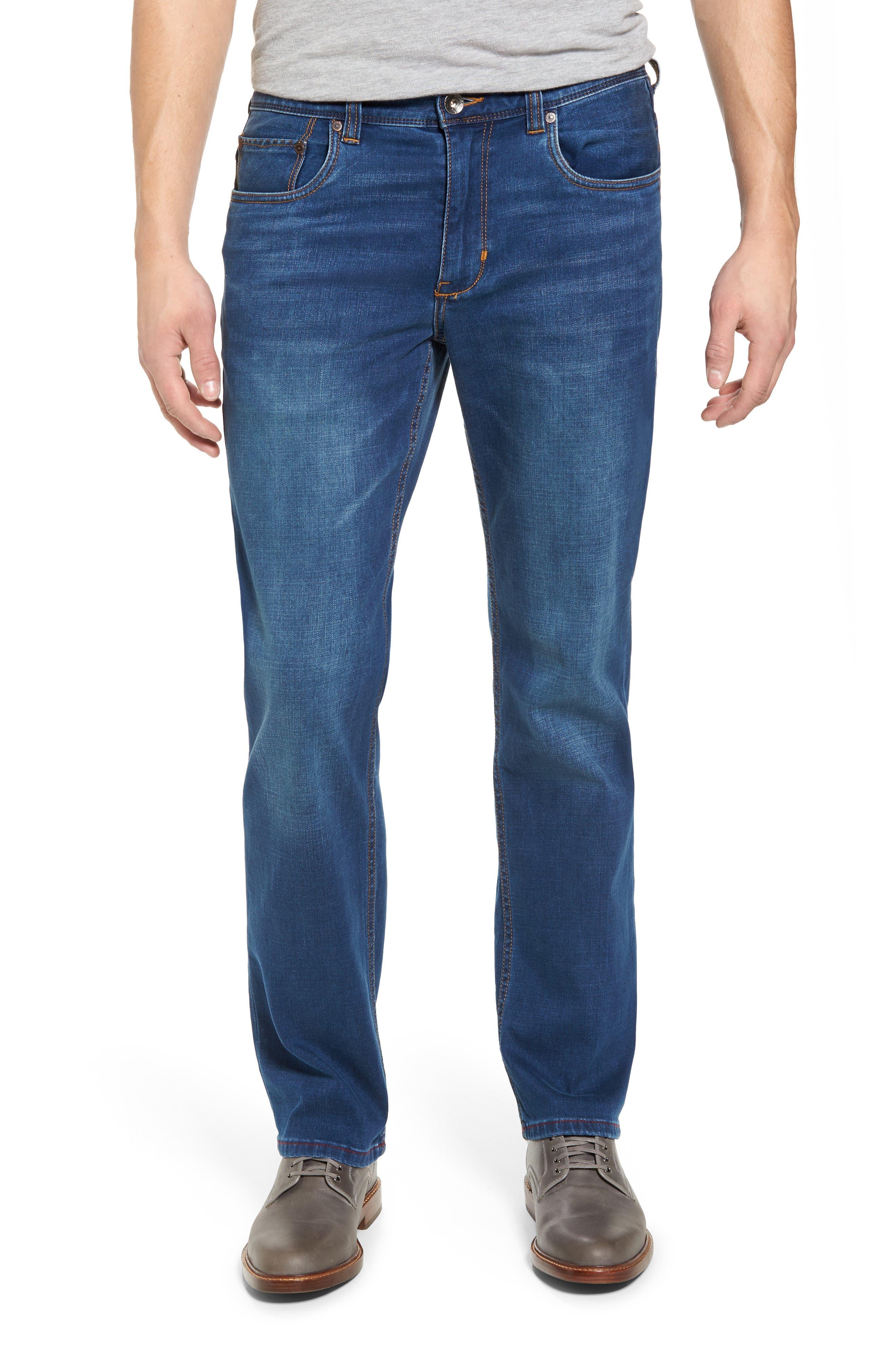 Caicos Authentic Fit Jeans,                             Main thumbnail 1, color,                             Medium Indigo