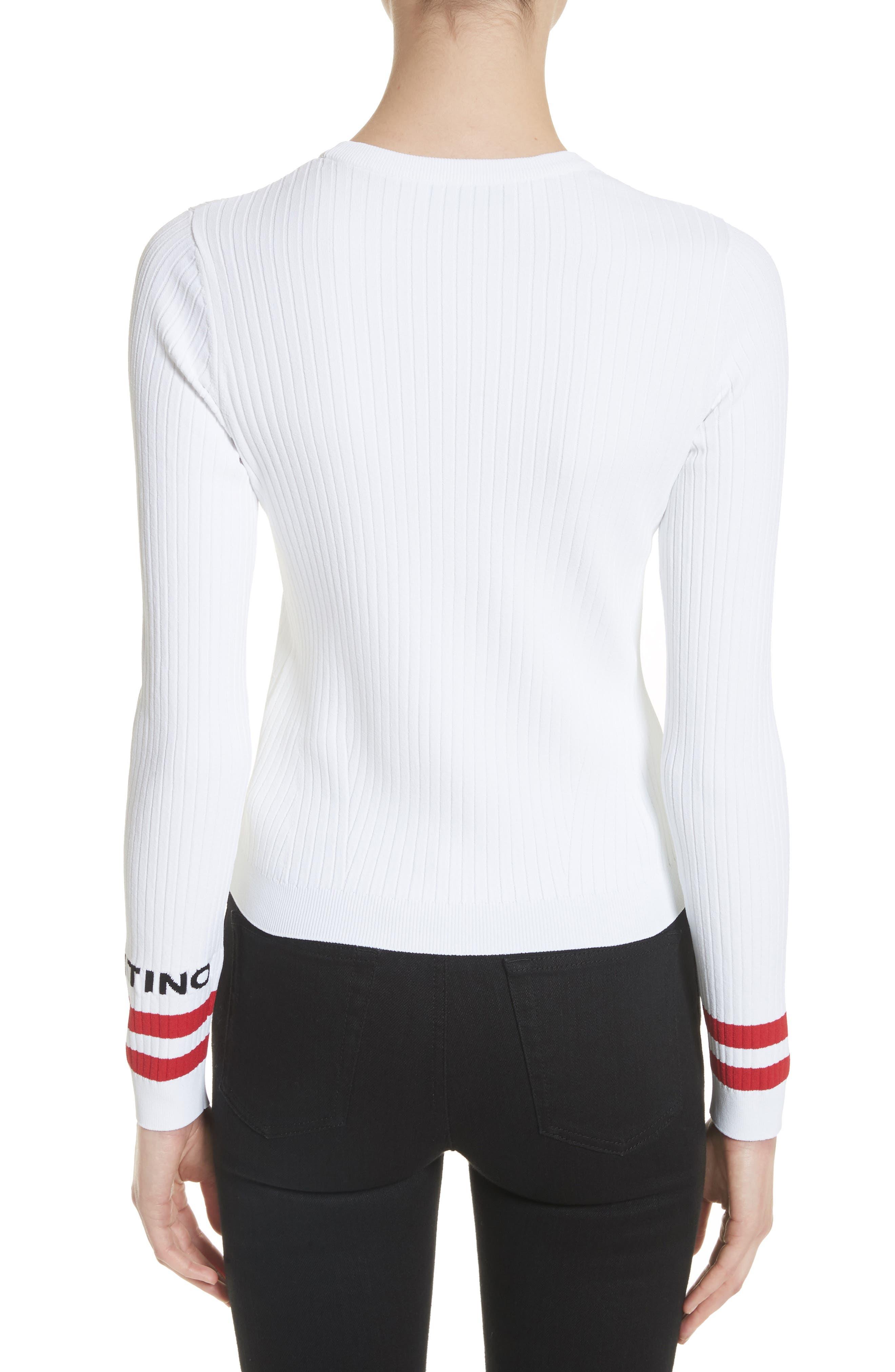 Alternate Image 2  - Valentino Logo Sleeve Knit Top