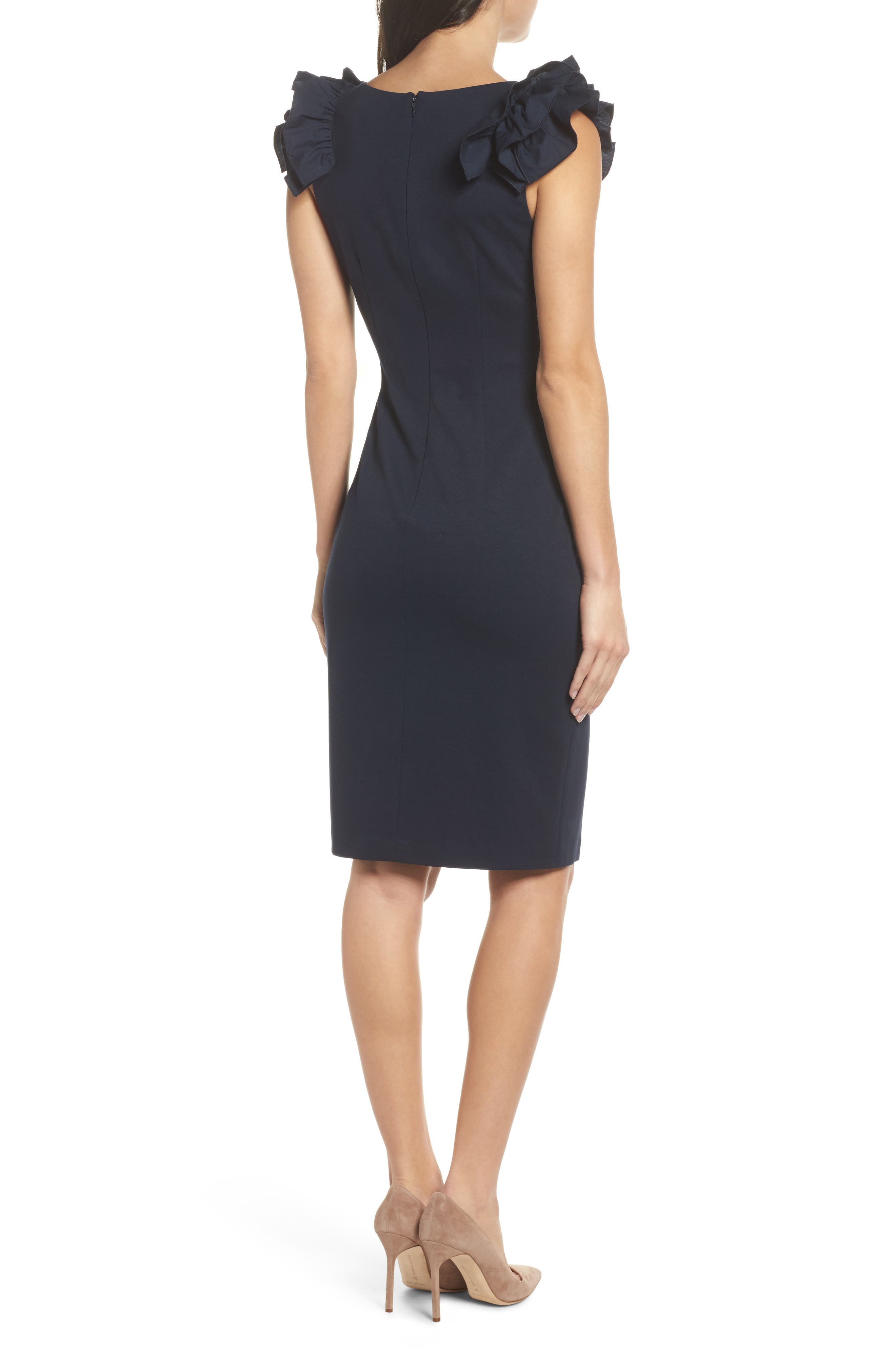 Alternate Image 2  - Chelsea28 Ruffle Sheath Dress
