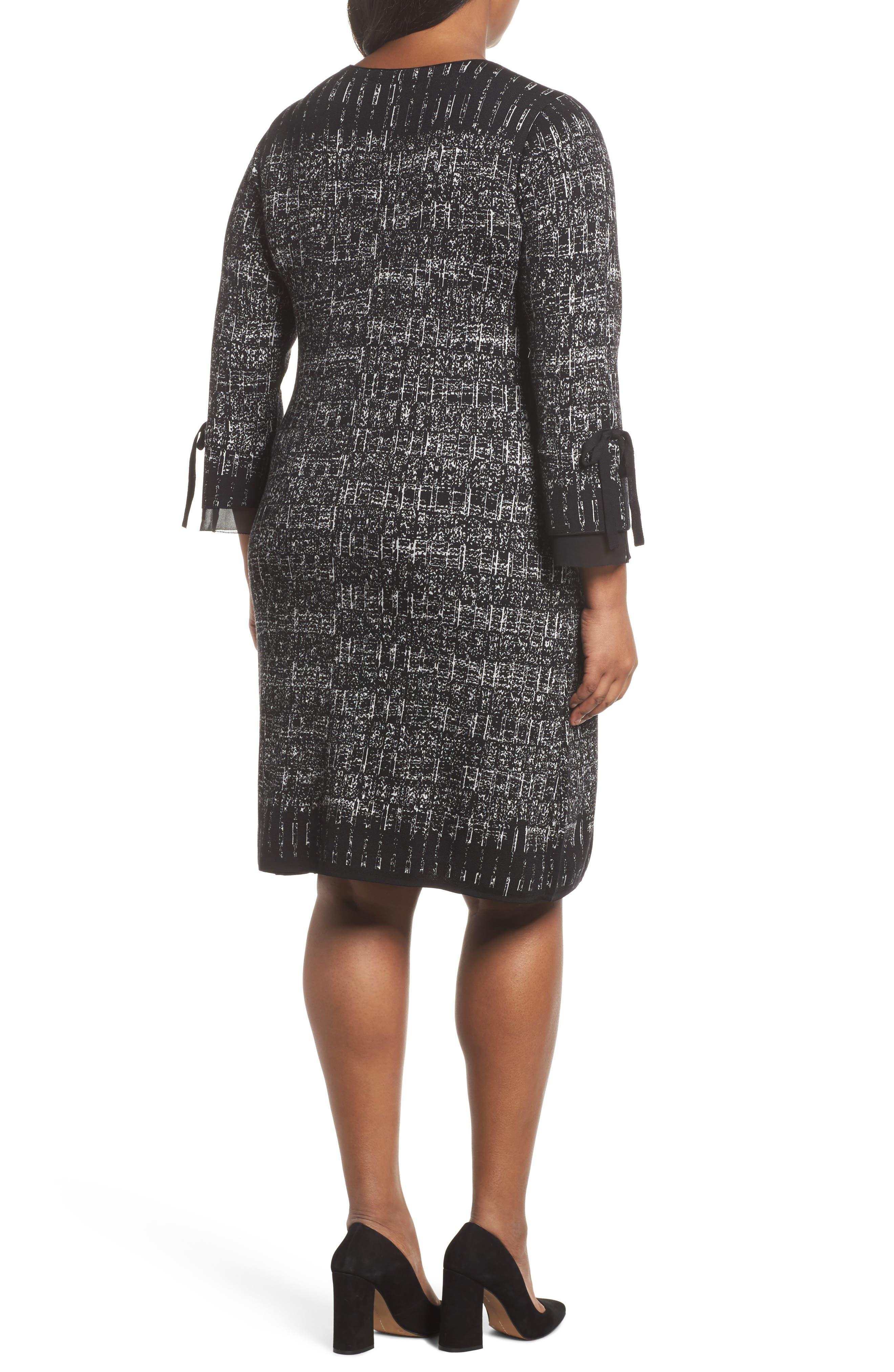 Alternate Image 2  - NIC+ZOE Ruffle Cuff Sweater Dress (Plus Size)