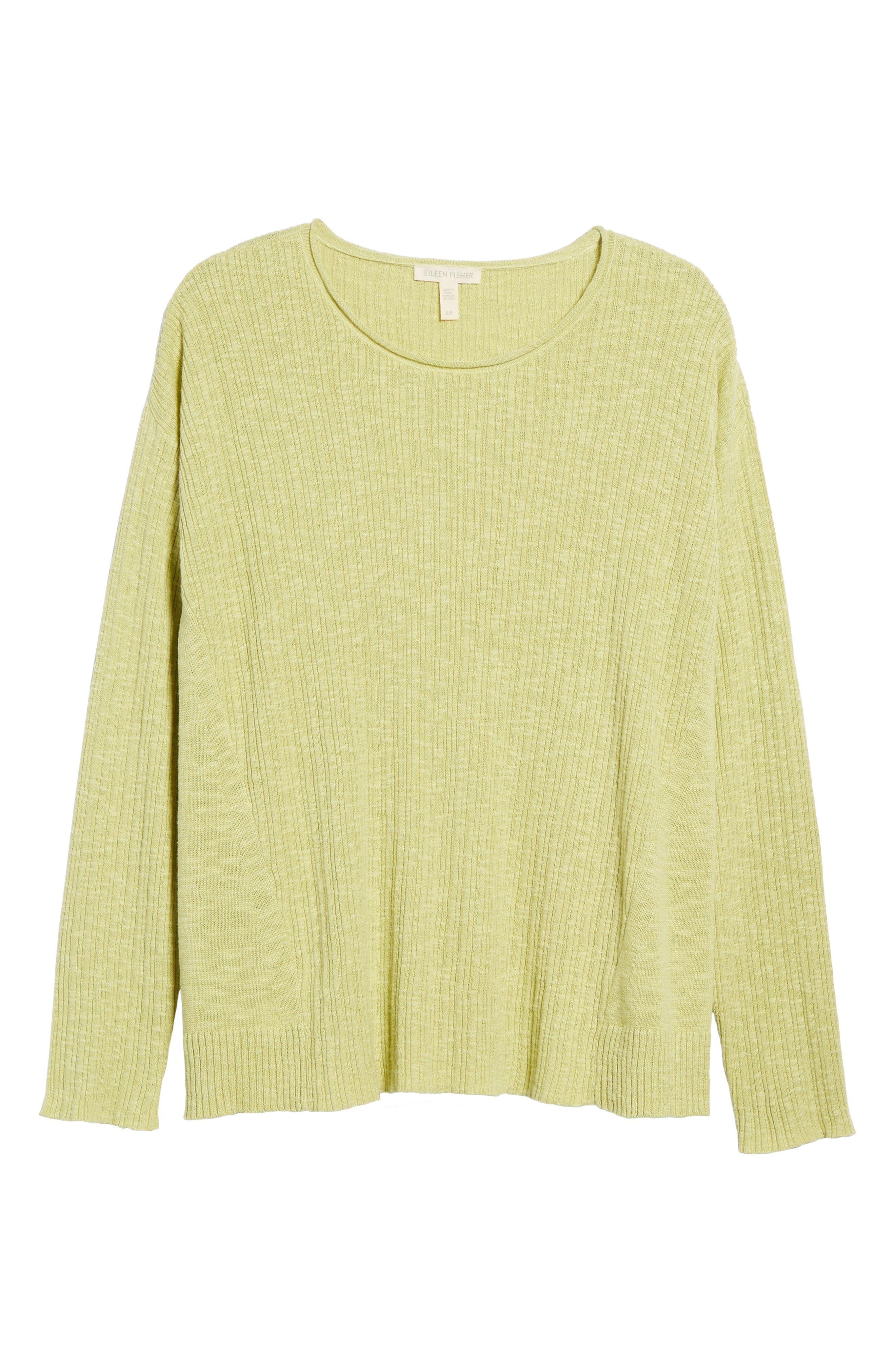 Alternate Image 6  - Eileen Fisher Organic Linen & Cotton Crewneck Sweater (Regular & Petite)
