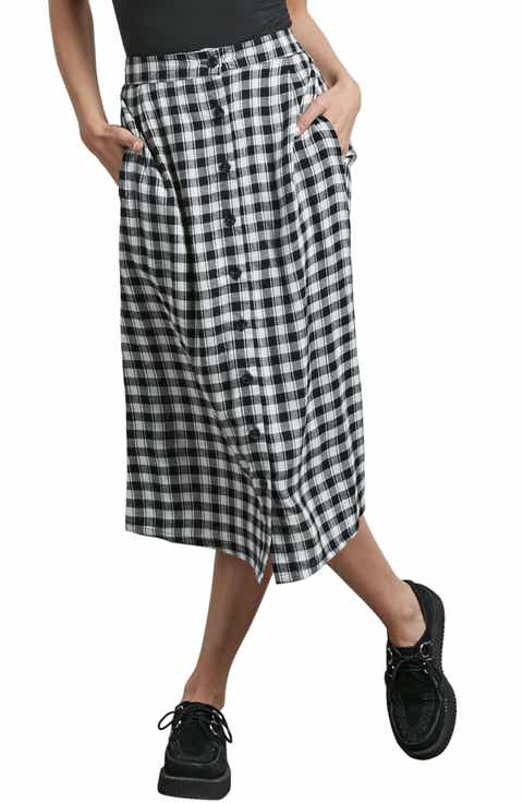 Volcom Get To Steppin Midi Skirt