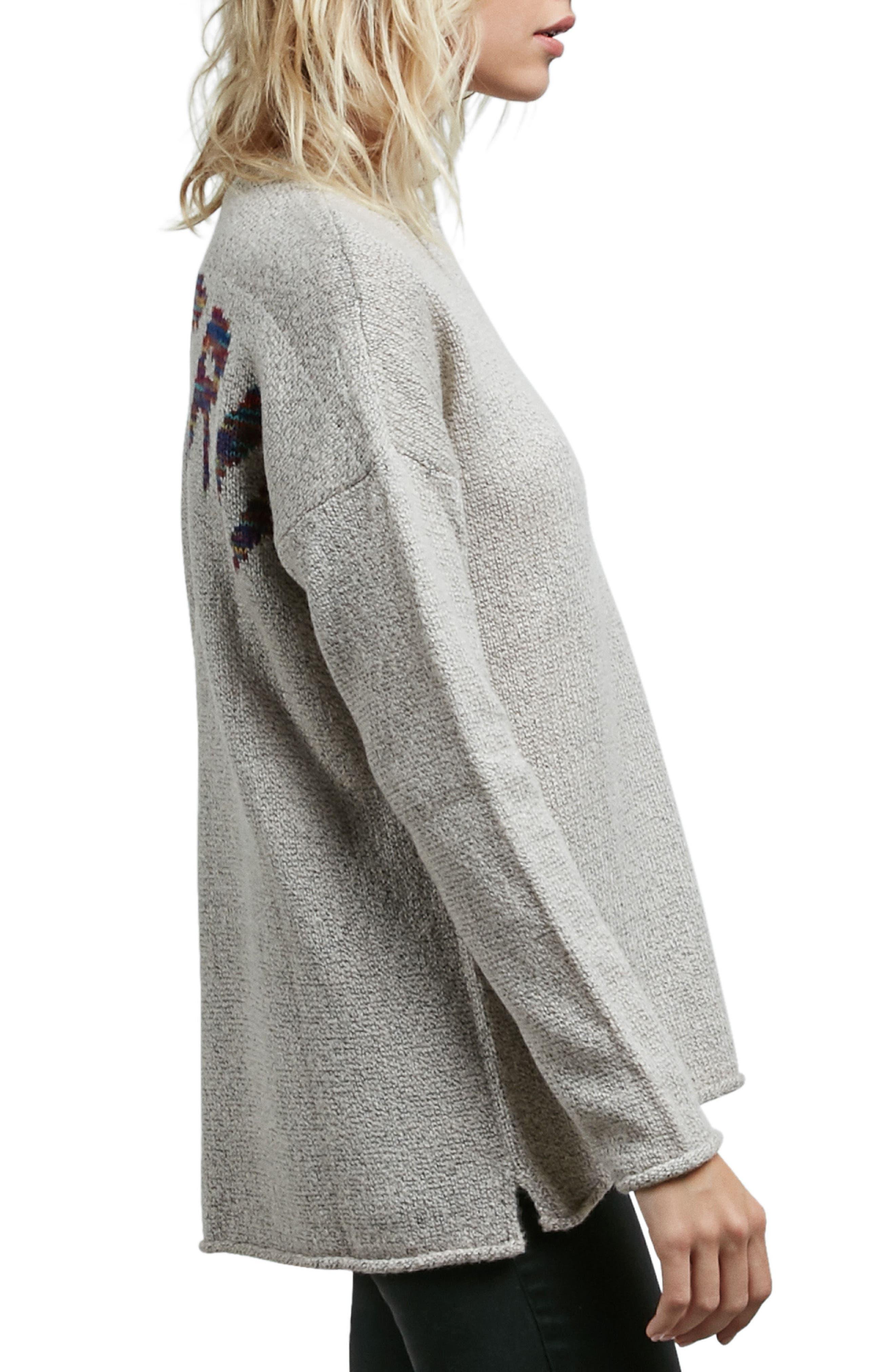 Alternate Image 3  - Volcom Yarn Moji Sweater