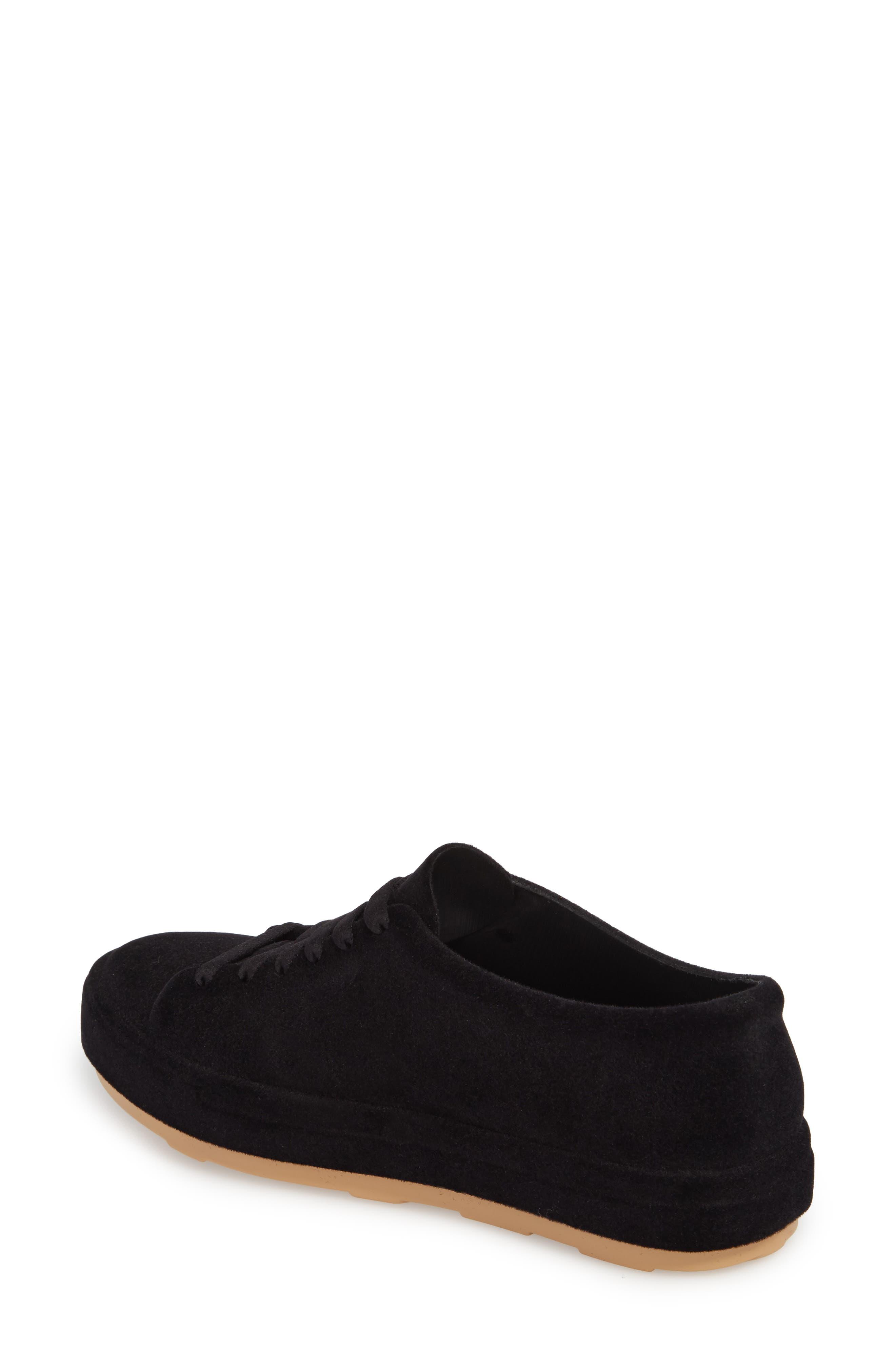 Be Flocked Sneaker,                             Alternate thumbnail 2, color,                             Black