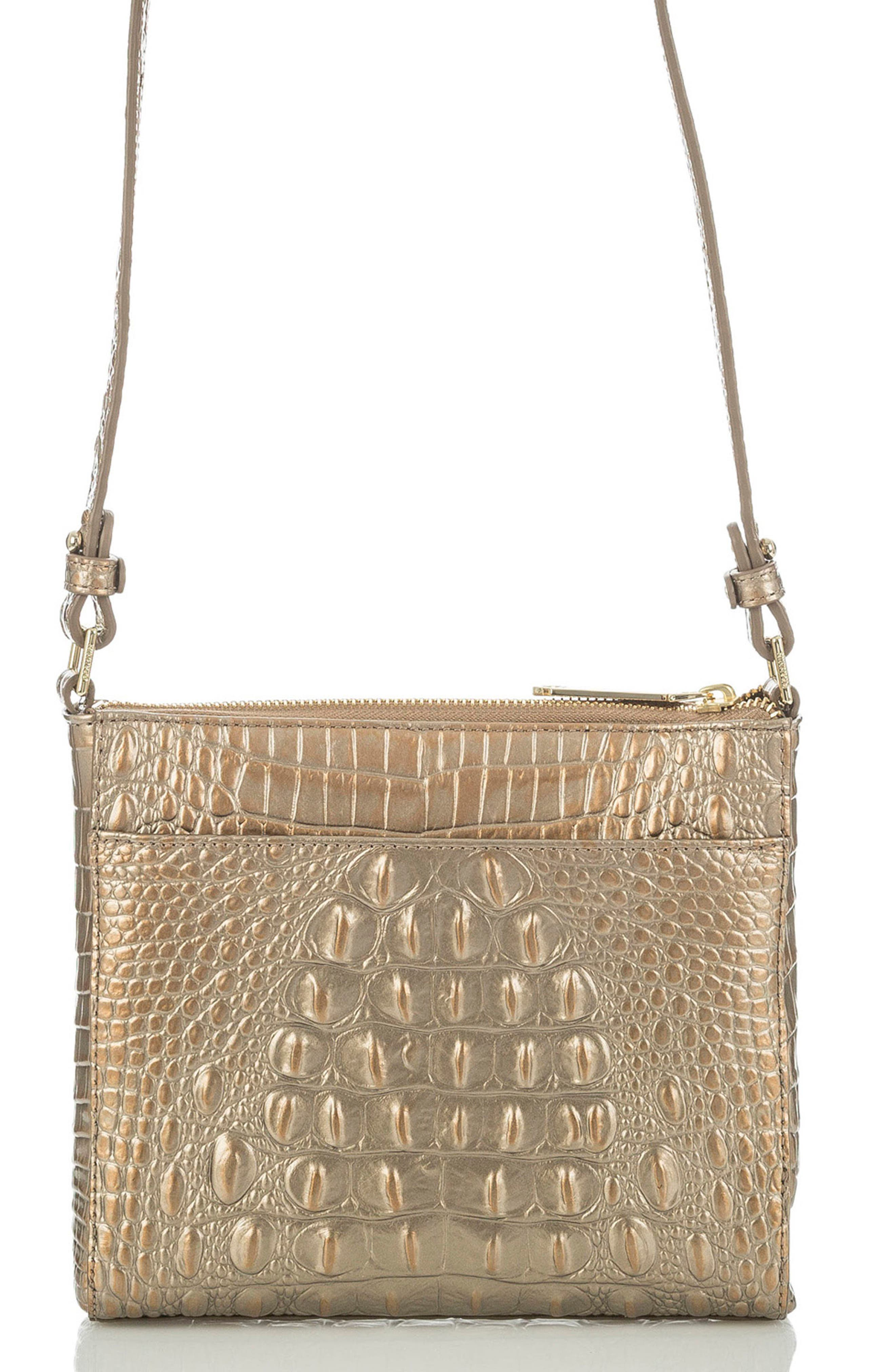 Alternate Image 2  - Brahmin Melbourne Manhattan Croc Embossed Leather Crossbody Bag