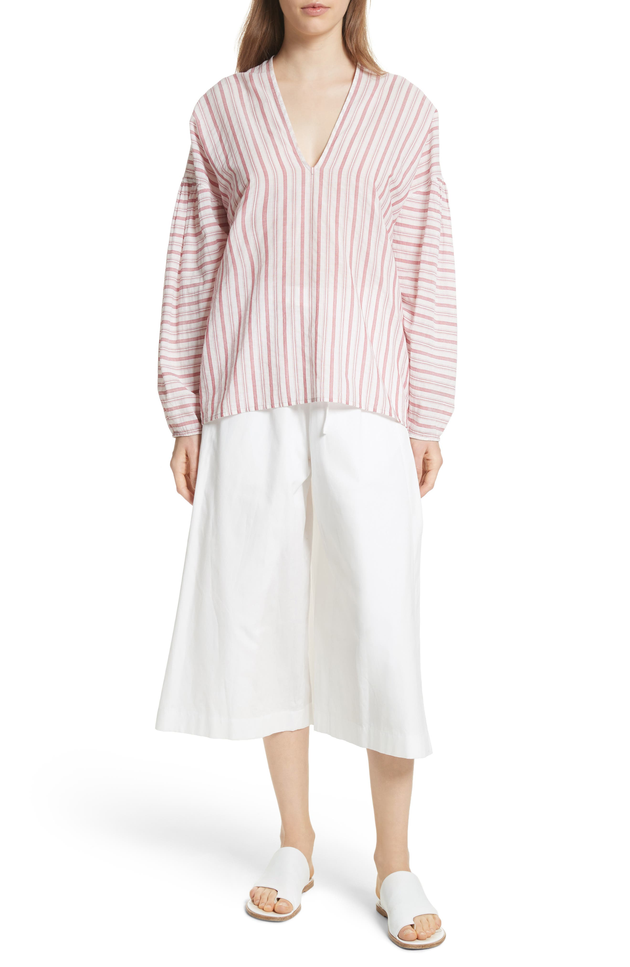 Side Slit Culottes,                             Alternate thumbnail 5, color,                             White