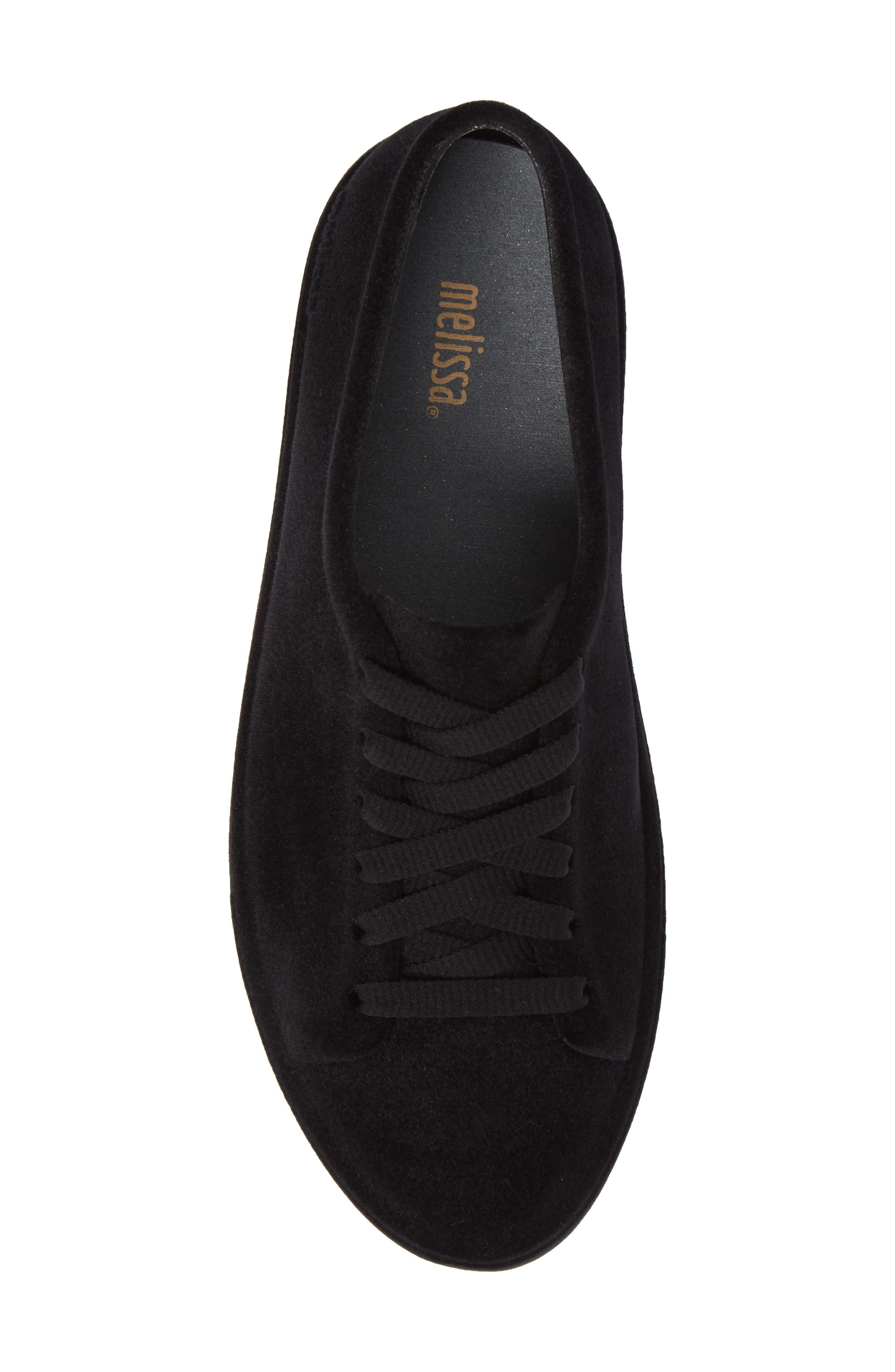 Be Flocked Sneaker,                             Alternate thumbnail 5, color,                             Black