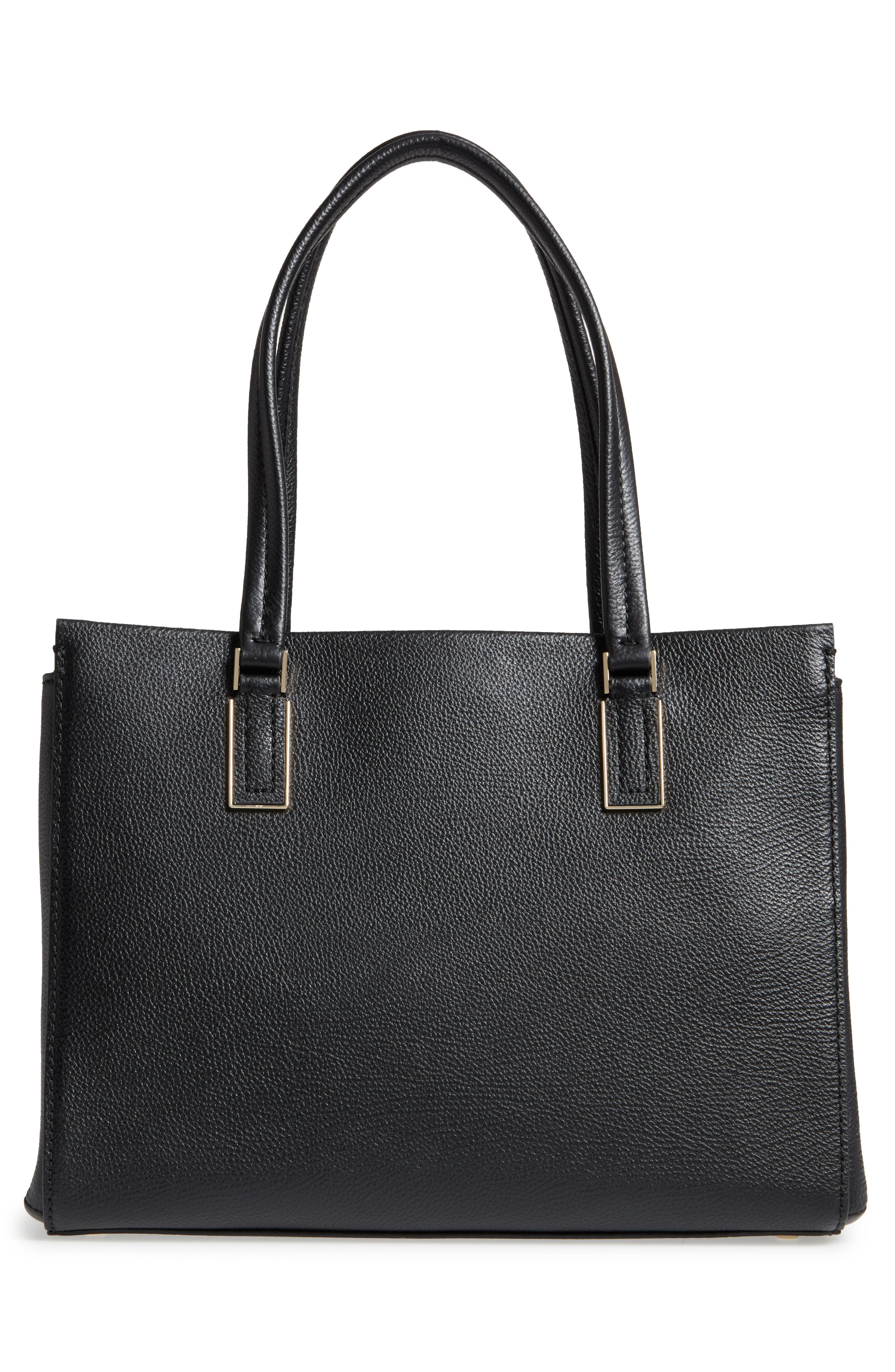 kingston drive - bartlett leather satchel,                             Alternate thumbnail 3, color,                             Black