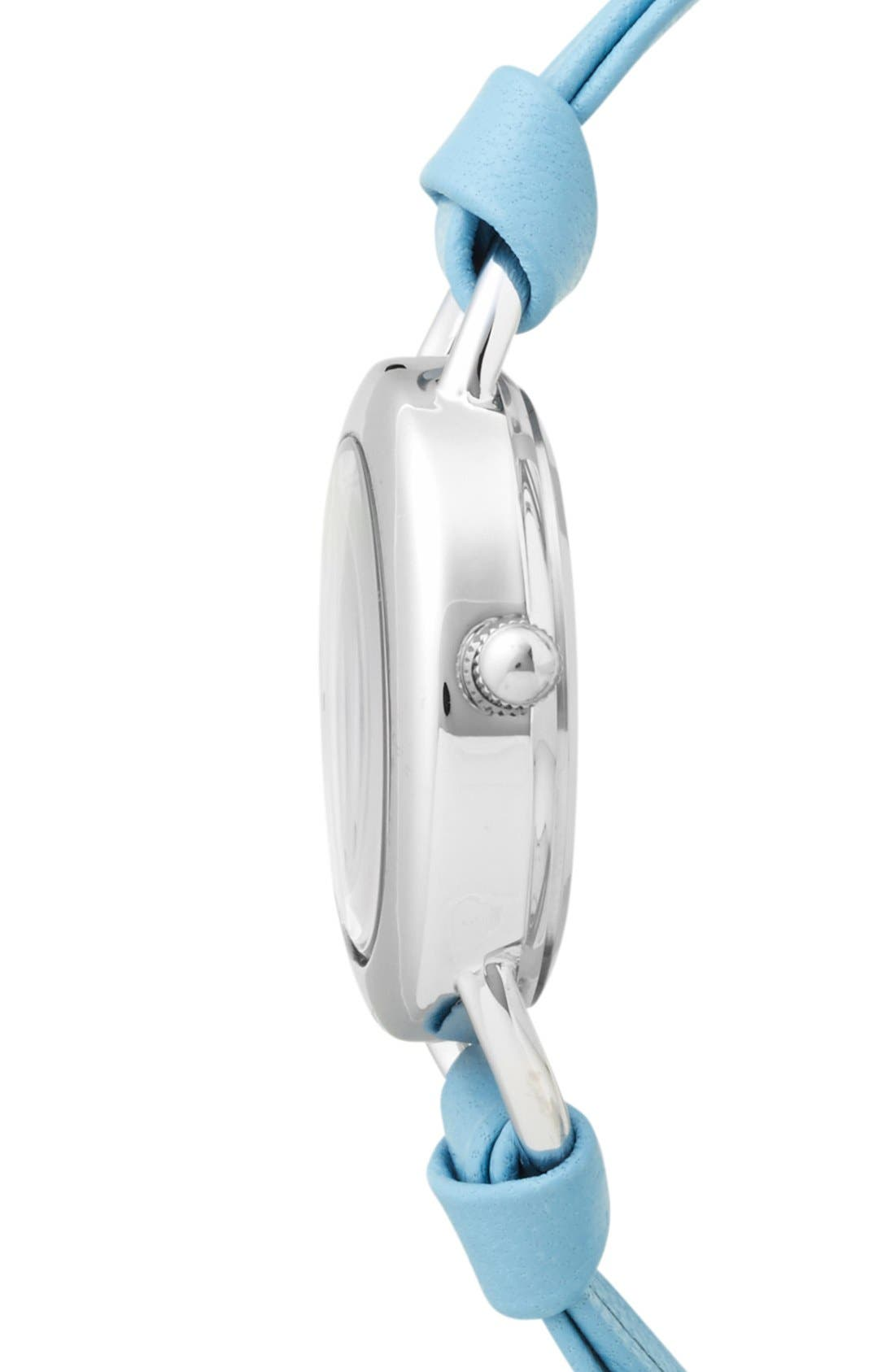 Alternate Image 3  - La Mer Collections 'Saturn' Leather Wrap Watch, 32mm