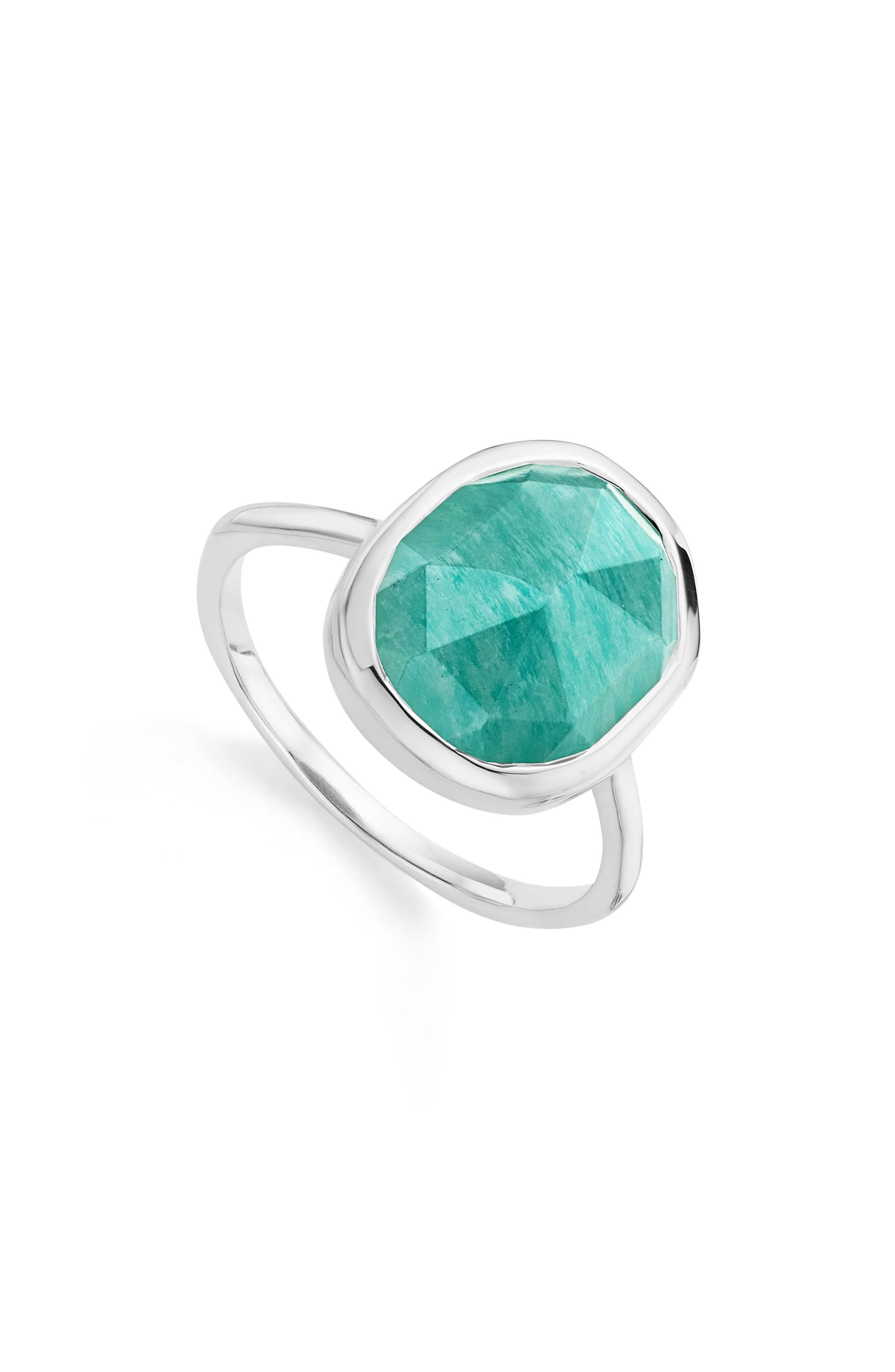 Main Image - Monica Vinader 'Siren' Medium Semiprecious Stone Stacking Ring