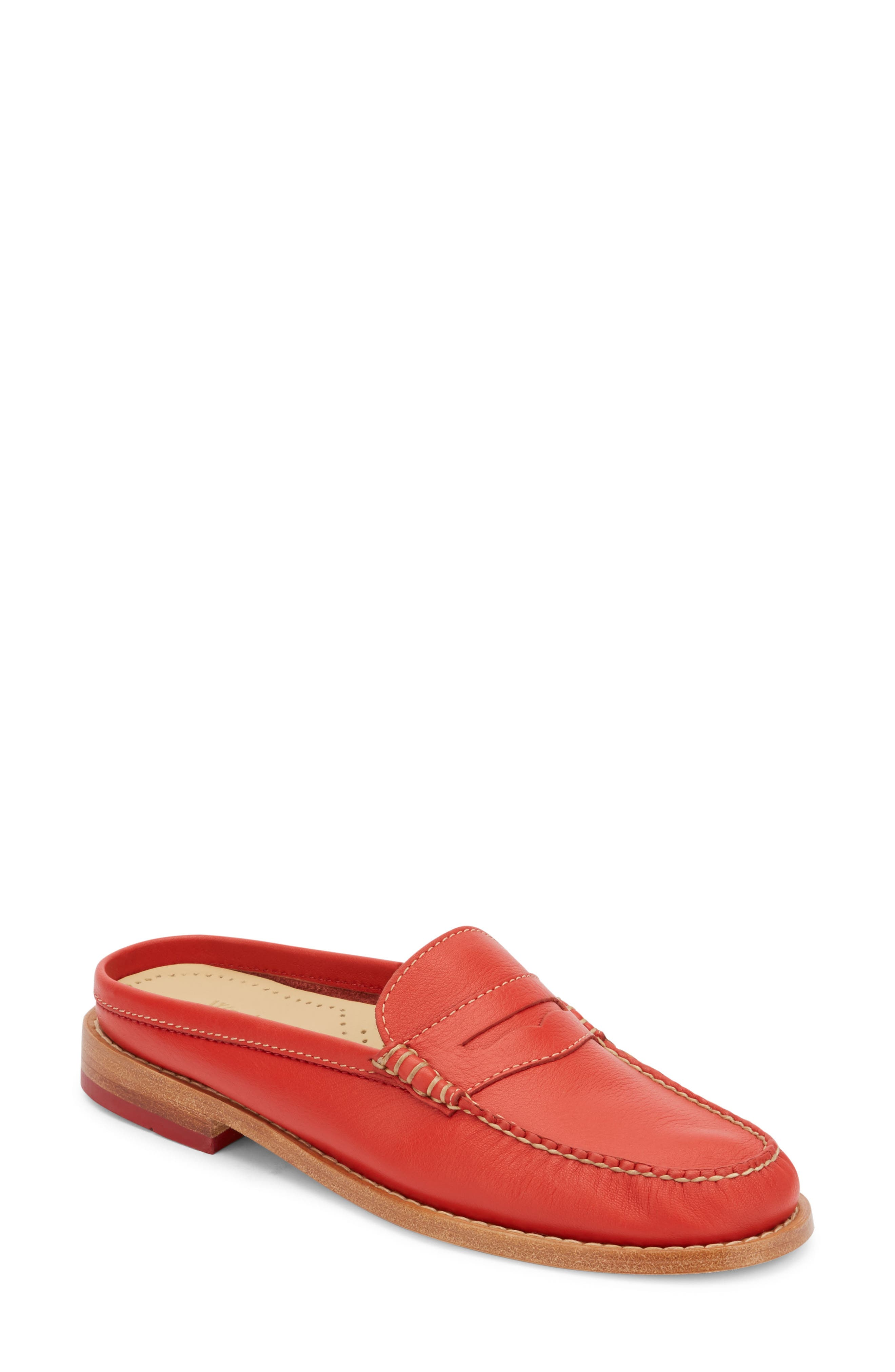 Wynn Loafer Mule,                             Main thumbnail 1, color,                             Roma Red Leather
