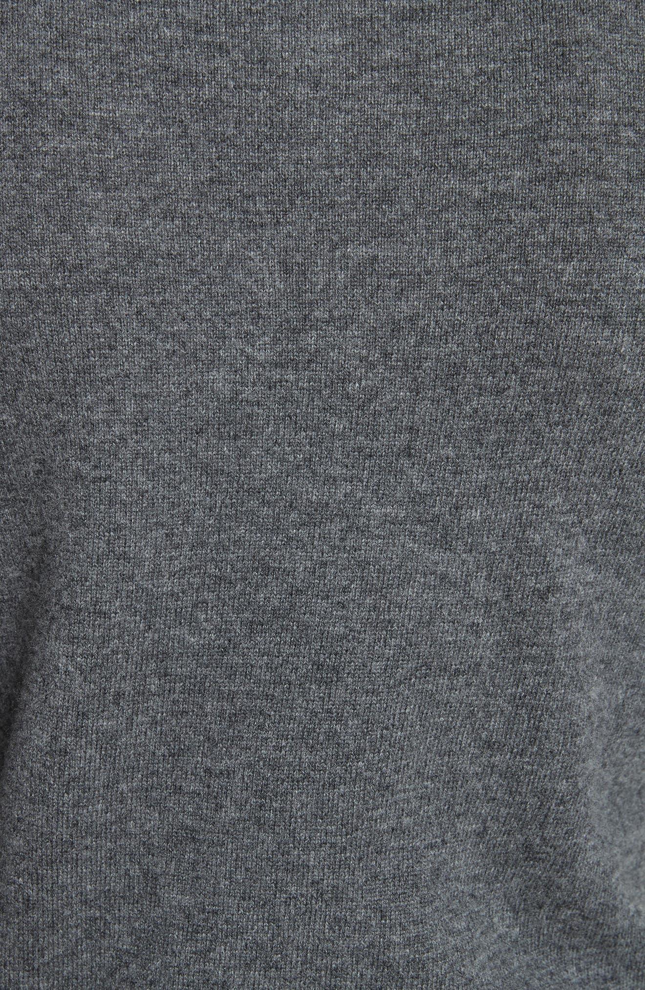 Comme des Garçons PLAY Wool Cardigan,                             Alternate thumbnail 5, color,                             Grey