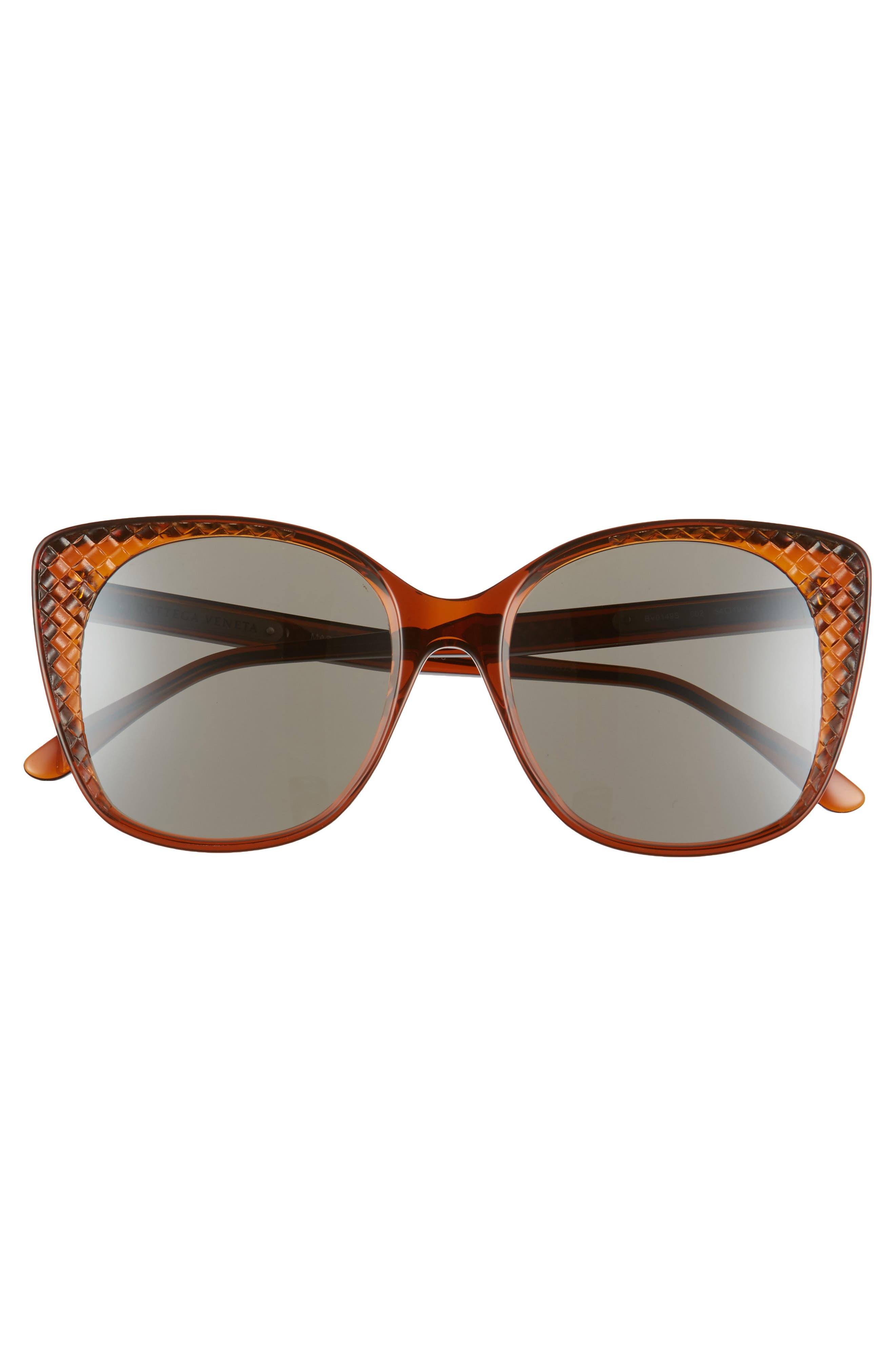 54mm Sunglasses,                             Alternate thumbnail 3, color,                             Chocolate Brown