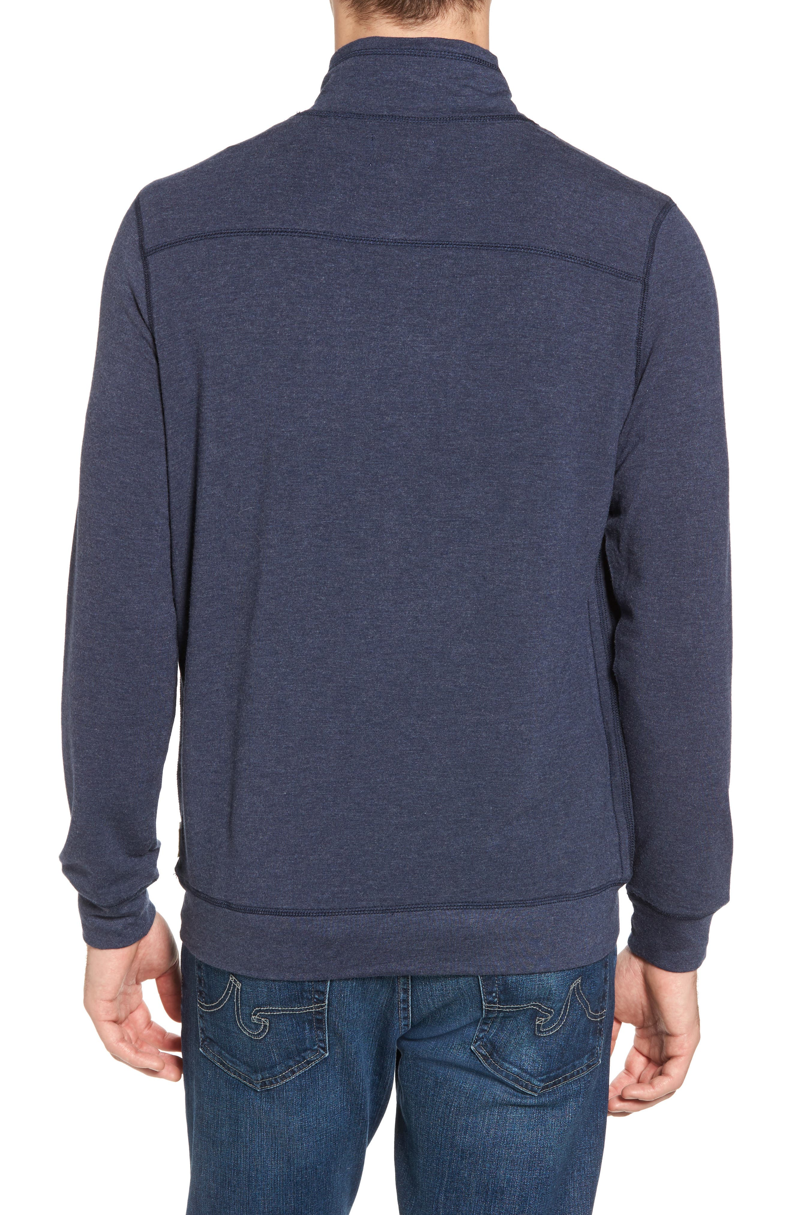 Alternate Image 2  - Surfside Supply Brushback Quarter Zip Pullover