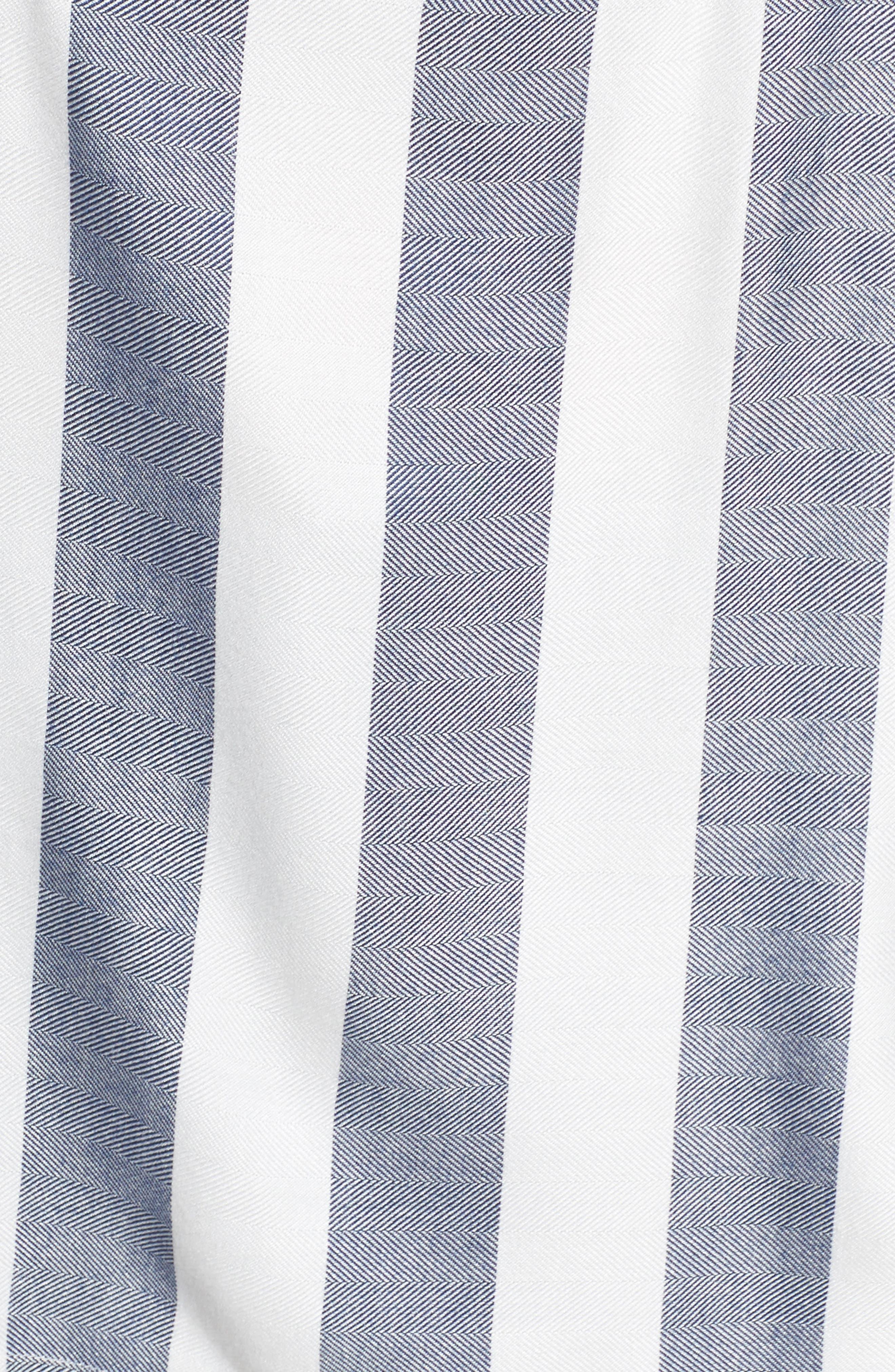 Bell Sleeve Stripe Top,                             Alternate thumbnail 5, color,                             Twilight Sky