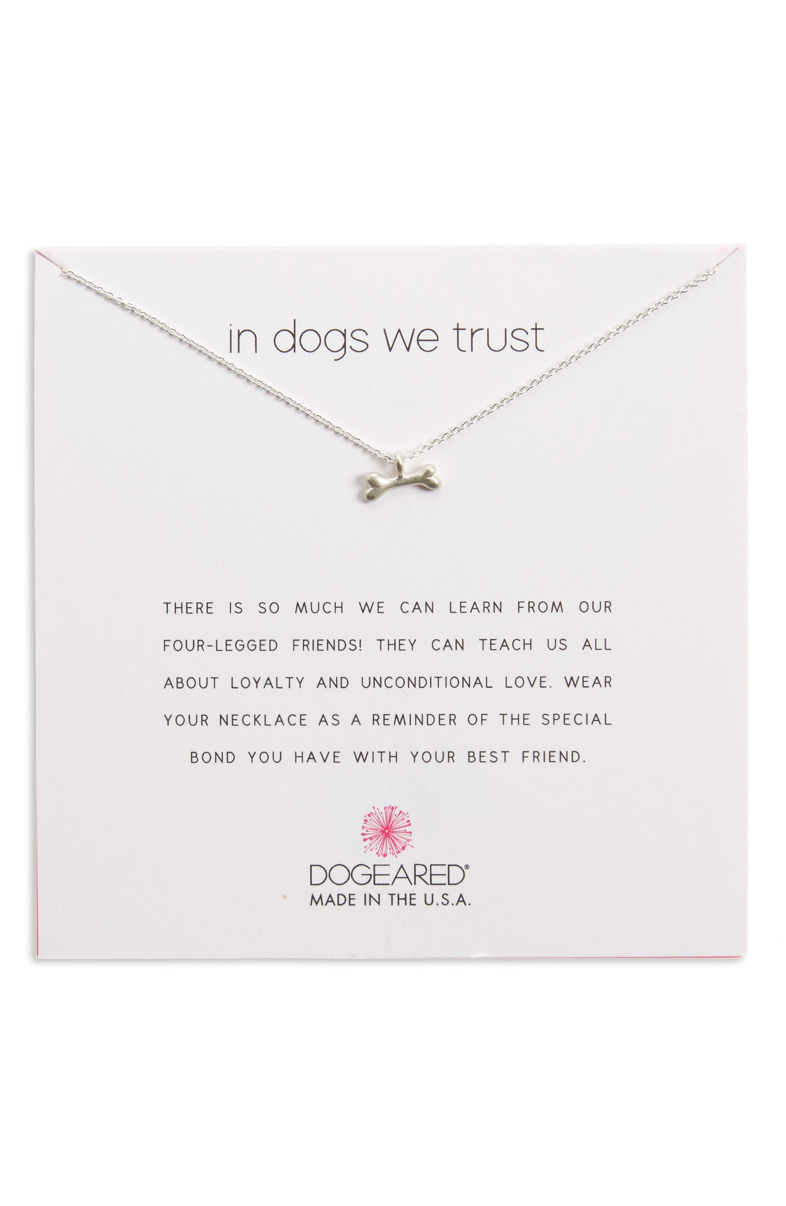 Main Image - Dogeared In Dogs We Trust Pendant Necklace