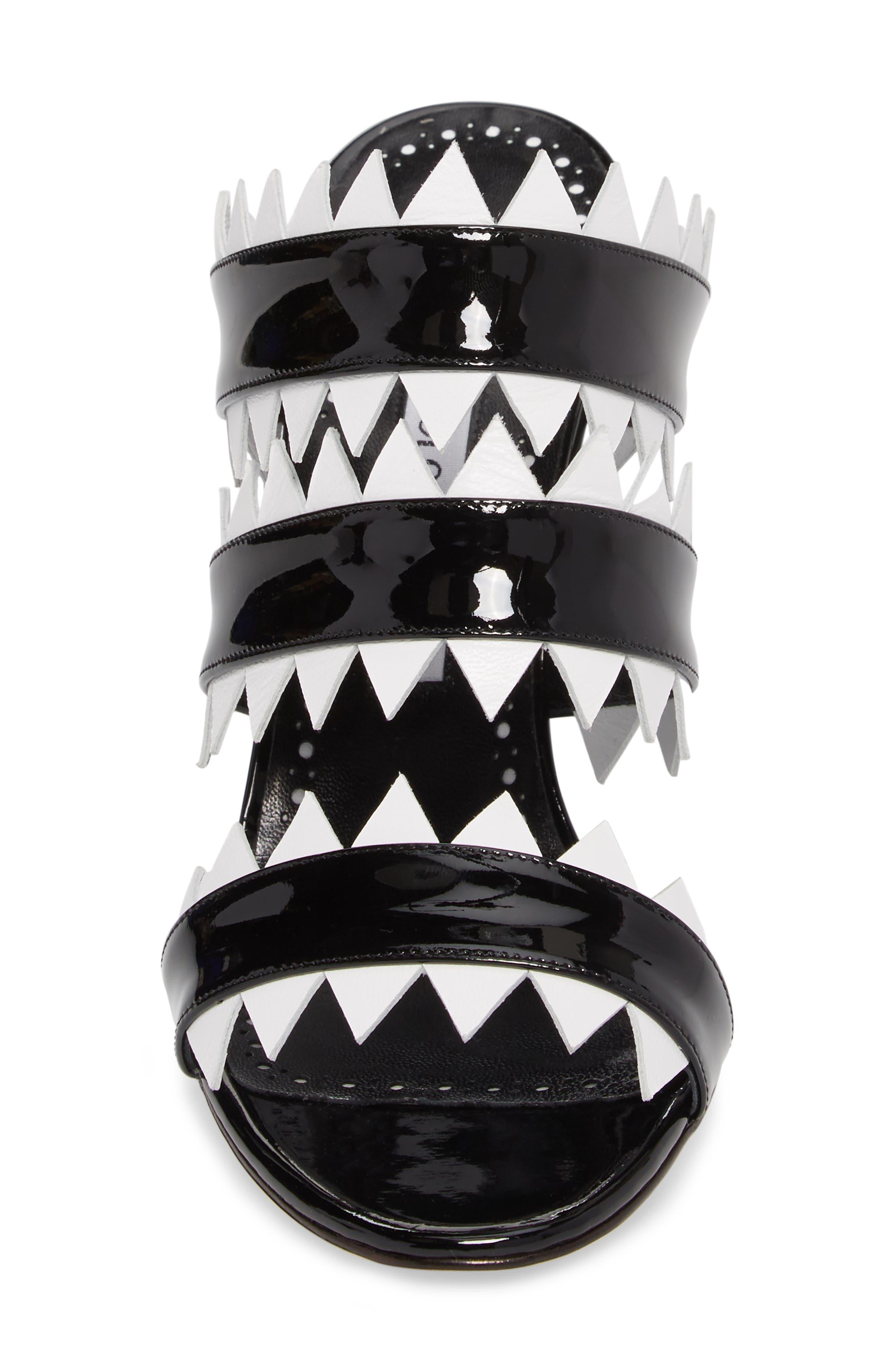 Arpege Mule Sandal,                             Alternate thumbnail 4, color,                             Black/ White
