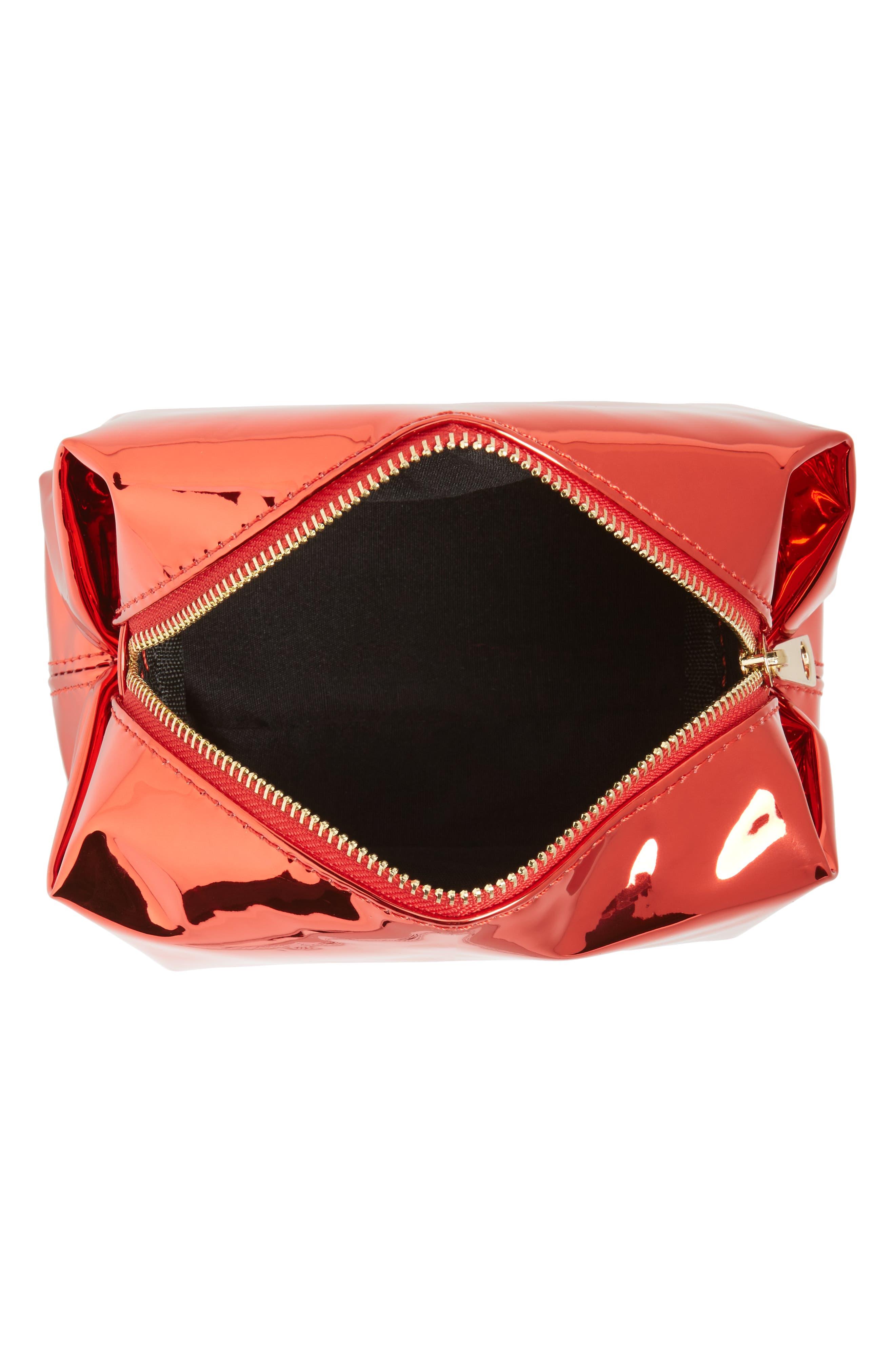 Alternate Image 3  - Yoki Bags Metallic Cosmetics Bag