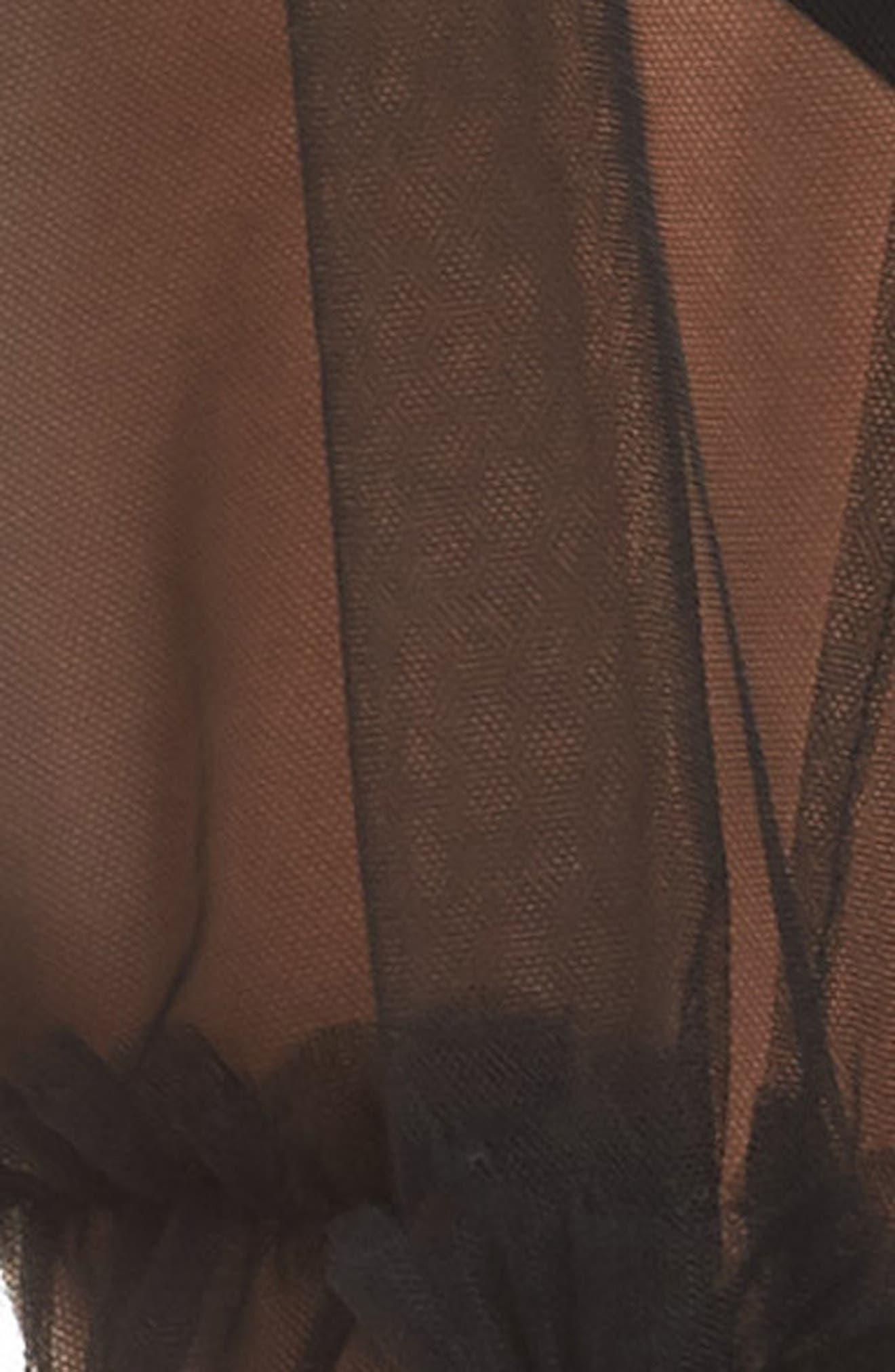 Vintage Sheer Cape,                             Alternate thumbnail 6, color,                             Black