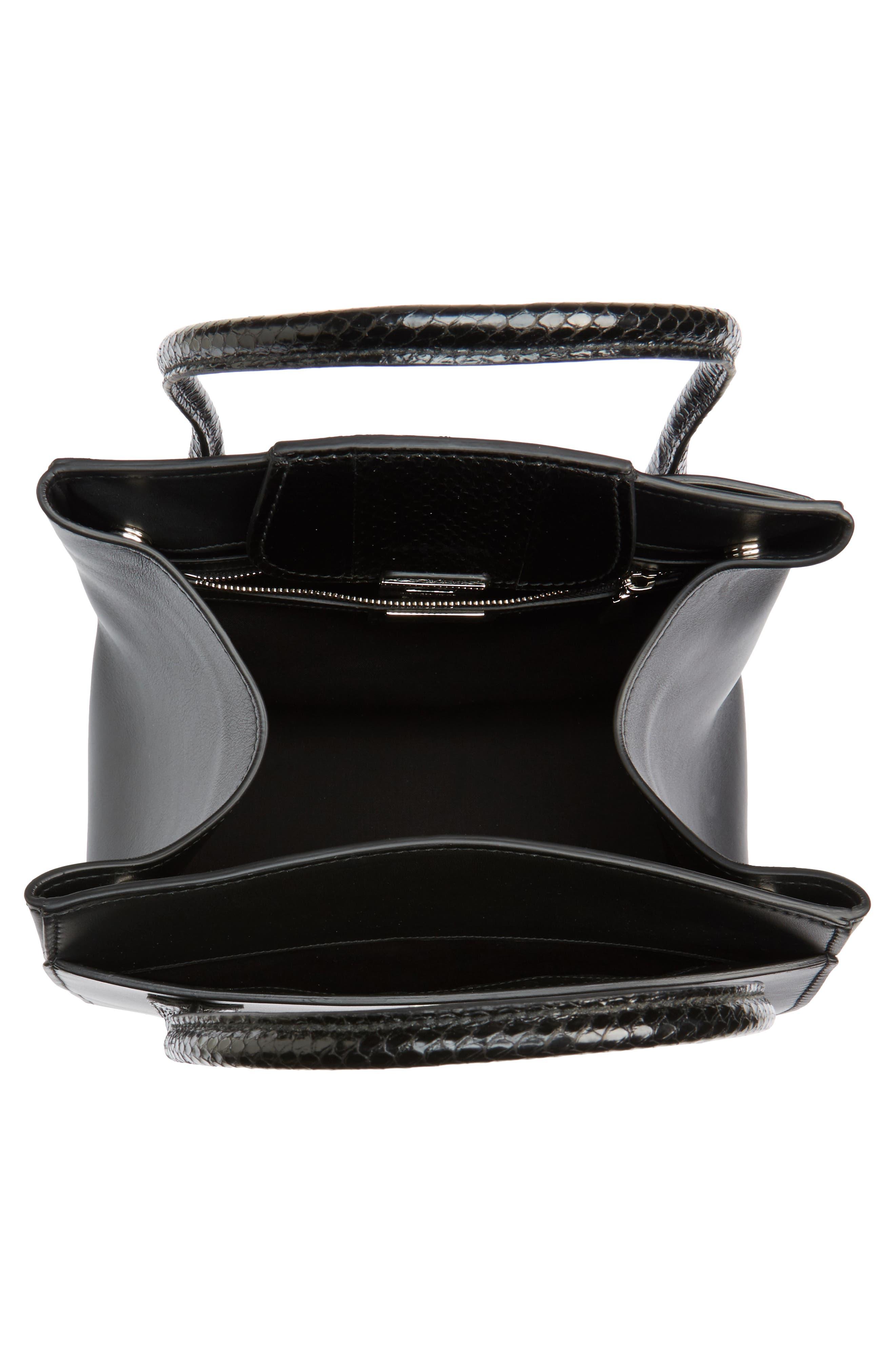 Large Bancroft Leather Top Handle Satchel,                             Alternate thumbnail 4, color,                             Black