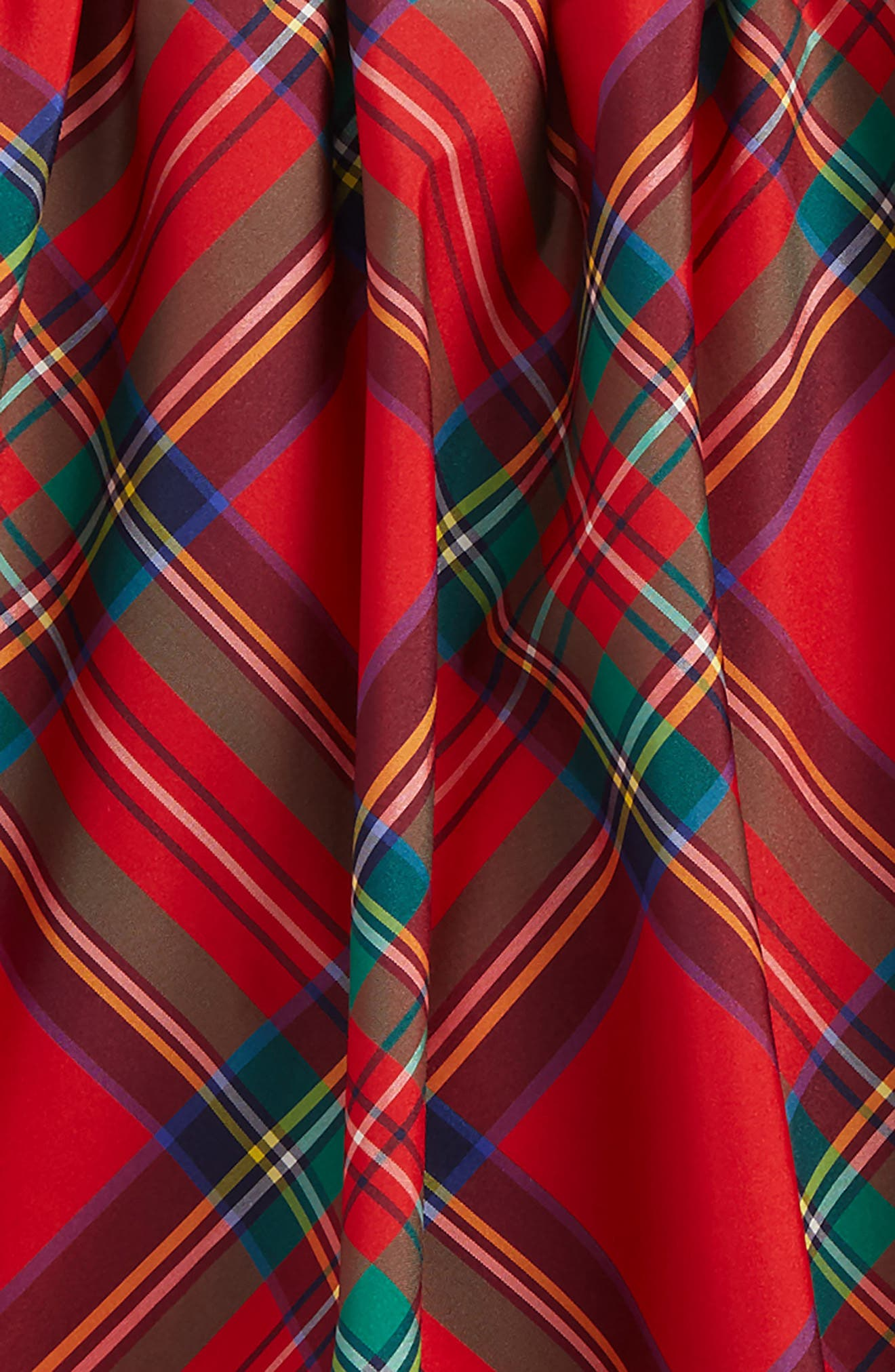 Jolly Plaid Holiday Skirt,                             Alternate thumbnail 2, color,                             Lighthouse Red