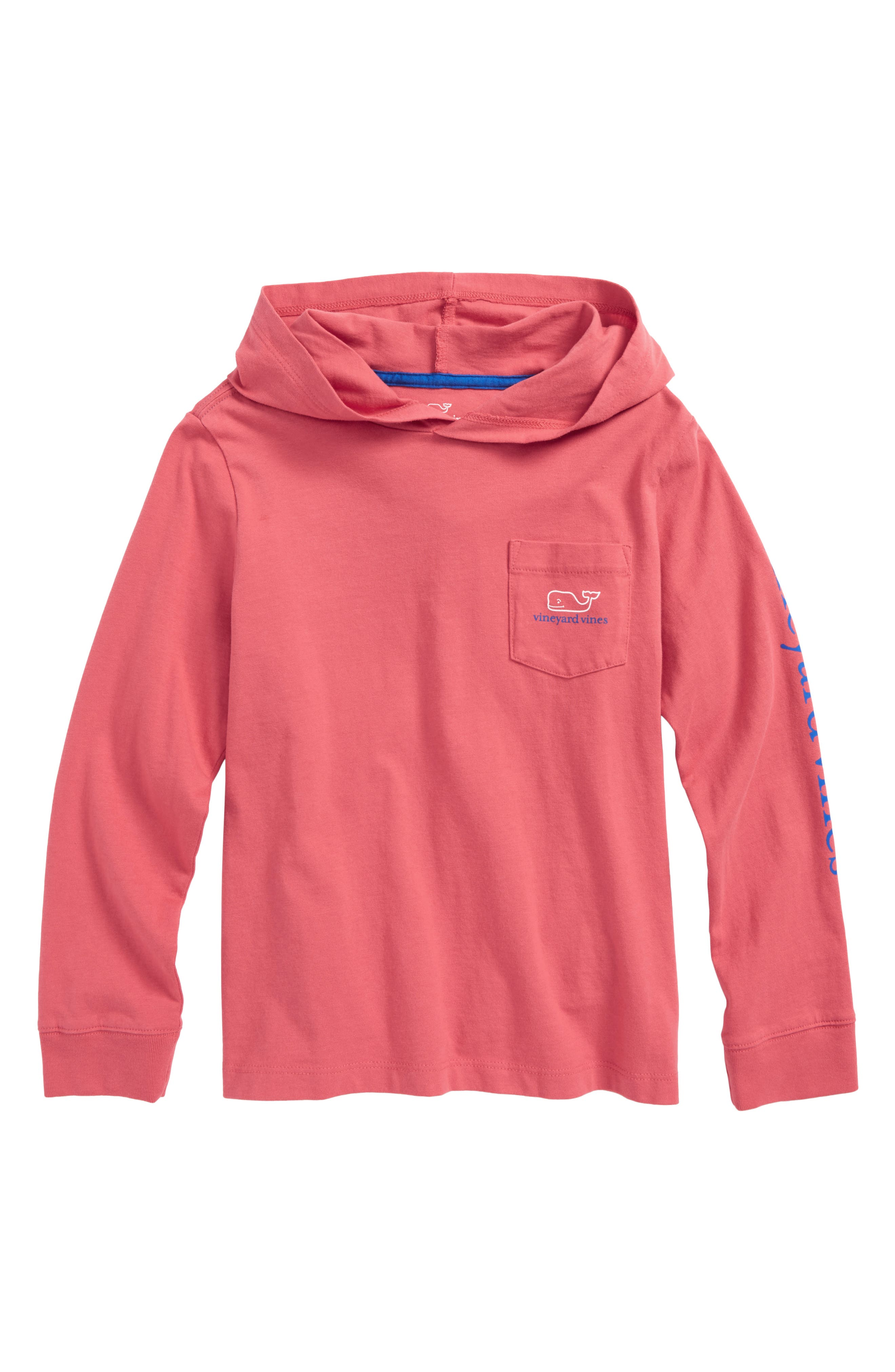 Main Image - vineyard vines Two-Tone Whale Hooded T-Shirt (Toddler Boys & Little Boys)
