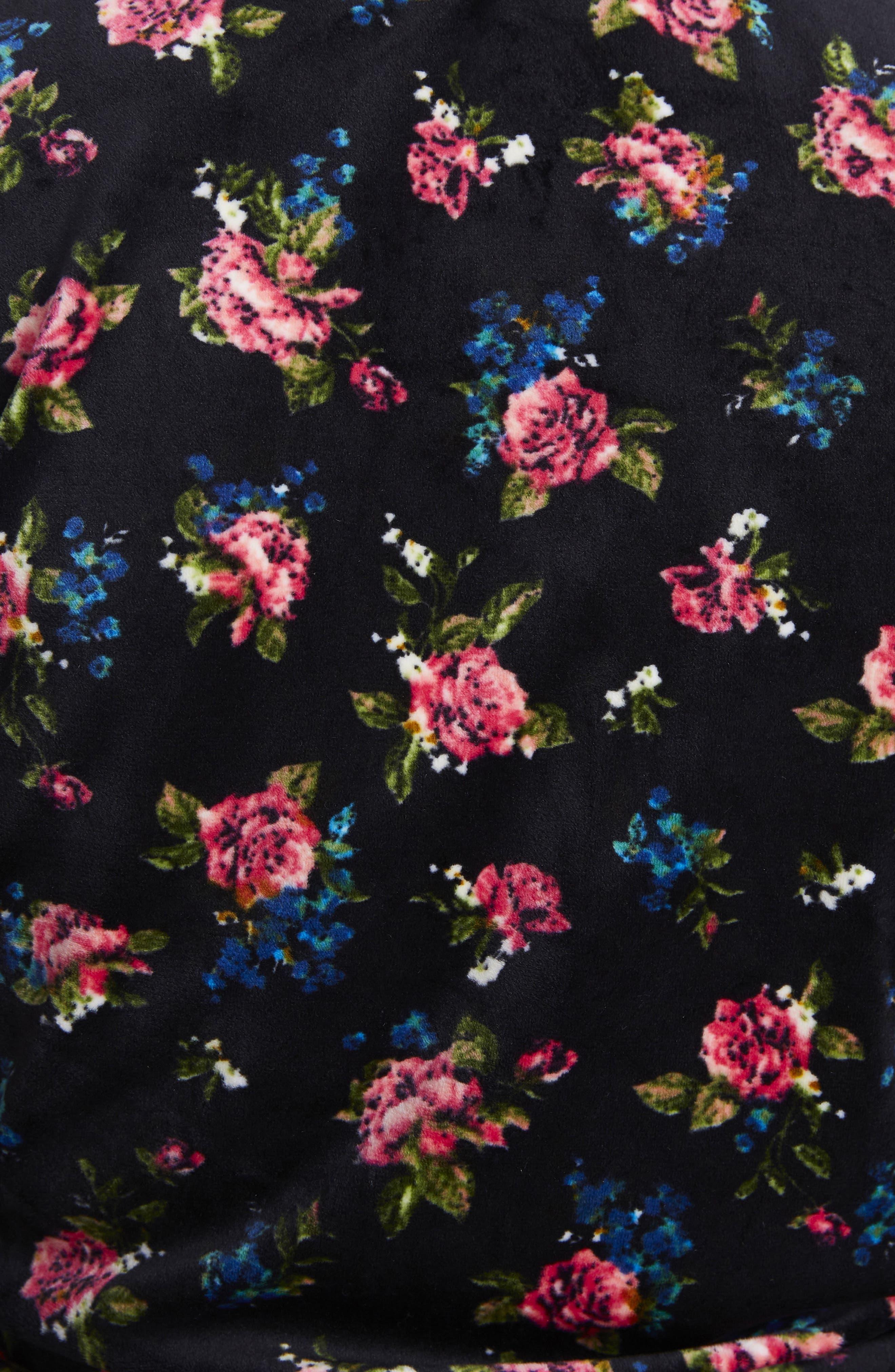 James Balloon Sleeve Sweatshirt,                             Alternate thumbnail 5, color,                             Flower Print
