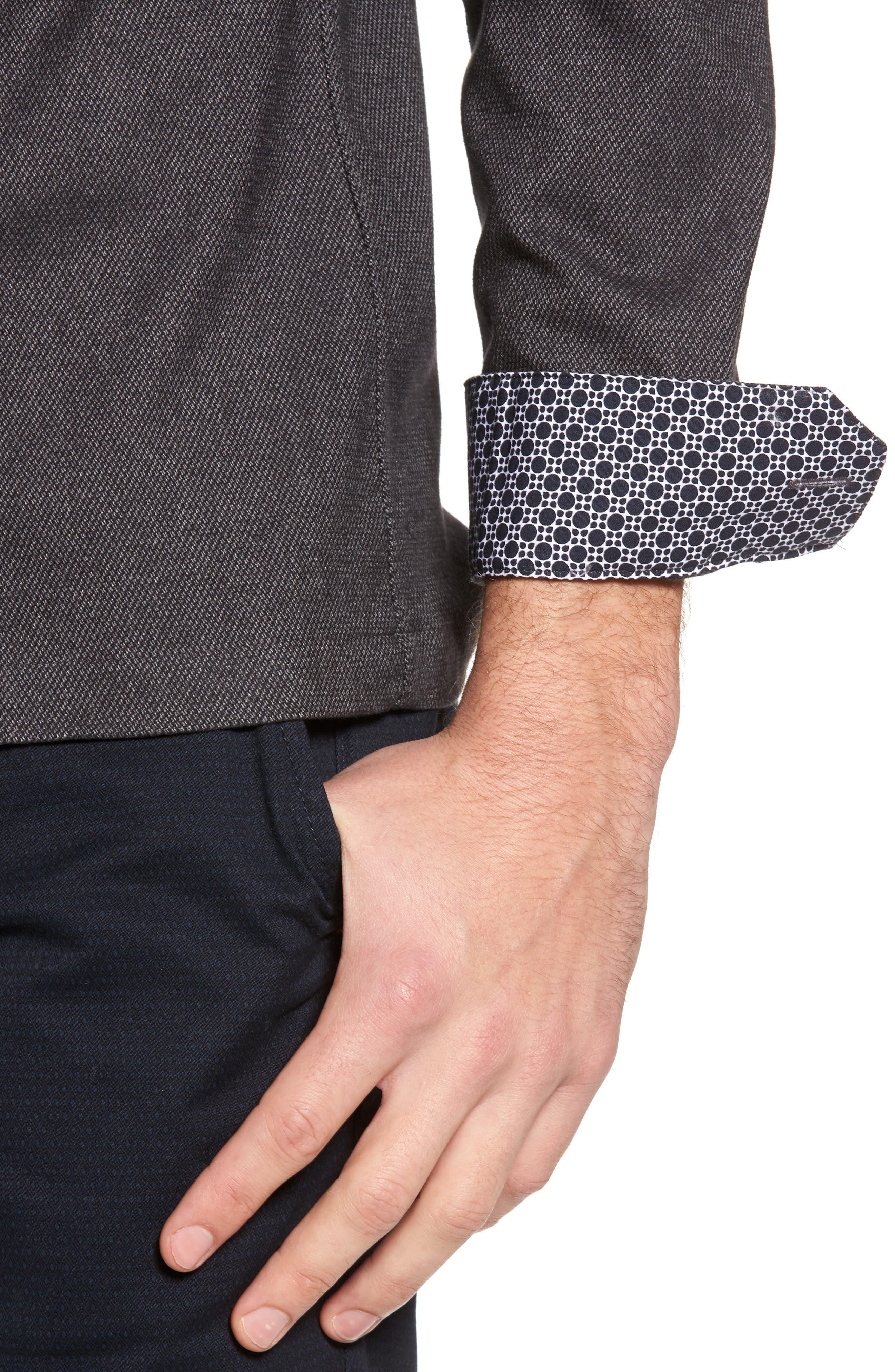 Digon Dobby Shirt,                             Alternate thumbnail 4, color,                             Grey