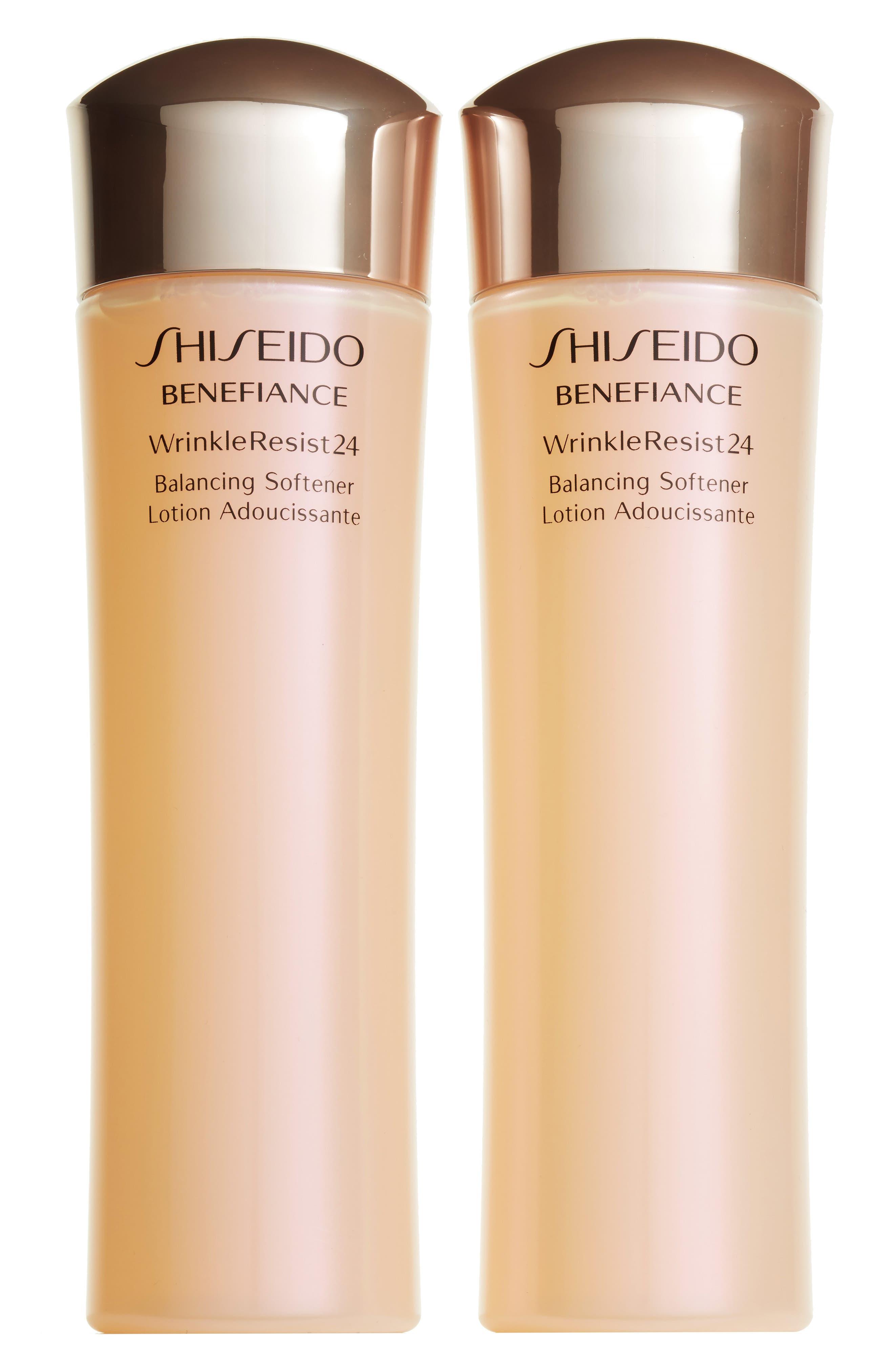 Alternate Image 1 Selected - Shiseido Benefiance WrinkleResist24 Balancing Softener Duo ($146 Value)