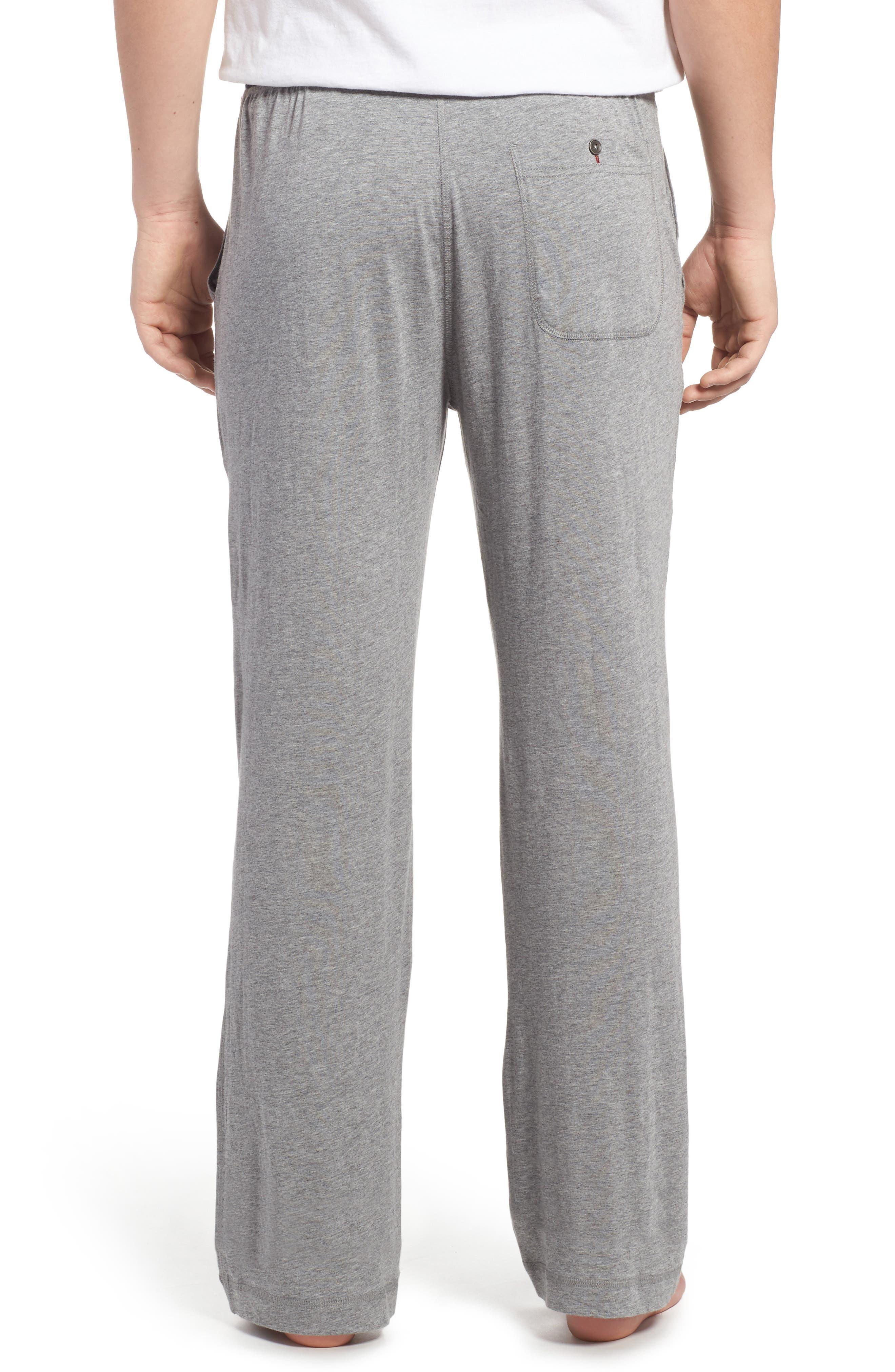 Pima Cotton & Modal Lounge Pants,                             Alternate thumbnail 2, color,                             Grey Heather