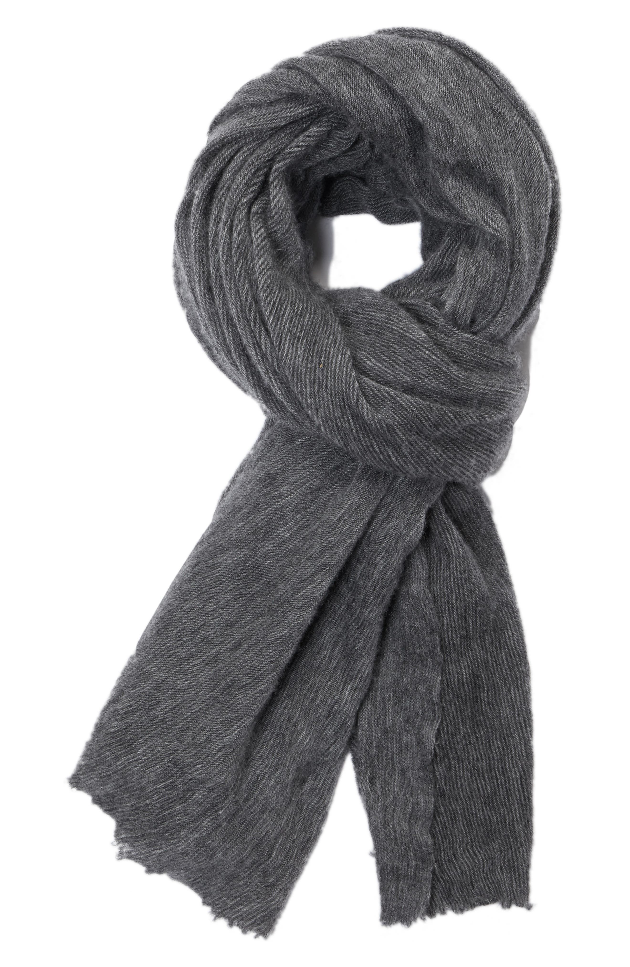 Zephyr Cashmere Scarf,                             Main thumbnail 1, color,                             Grey